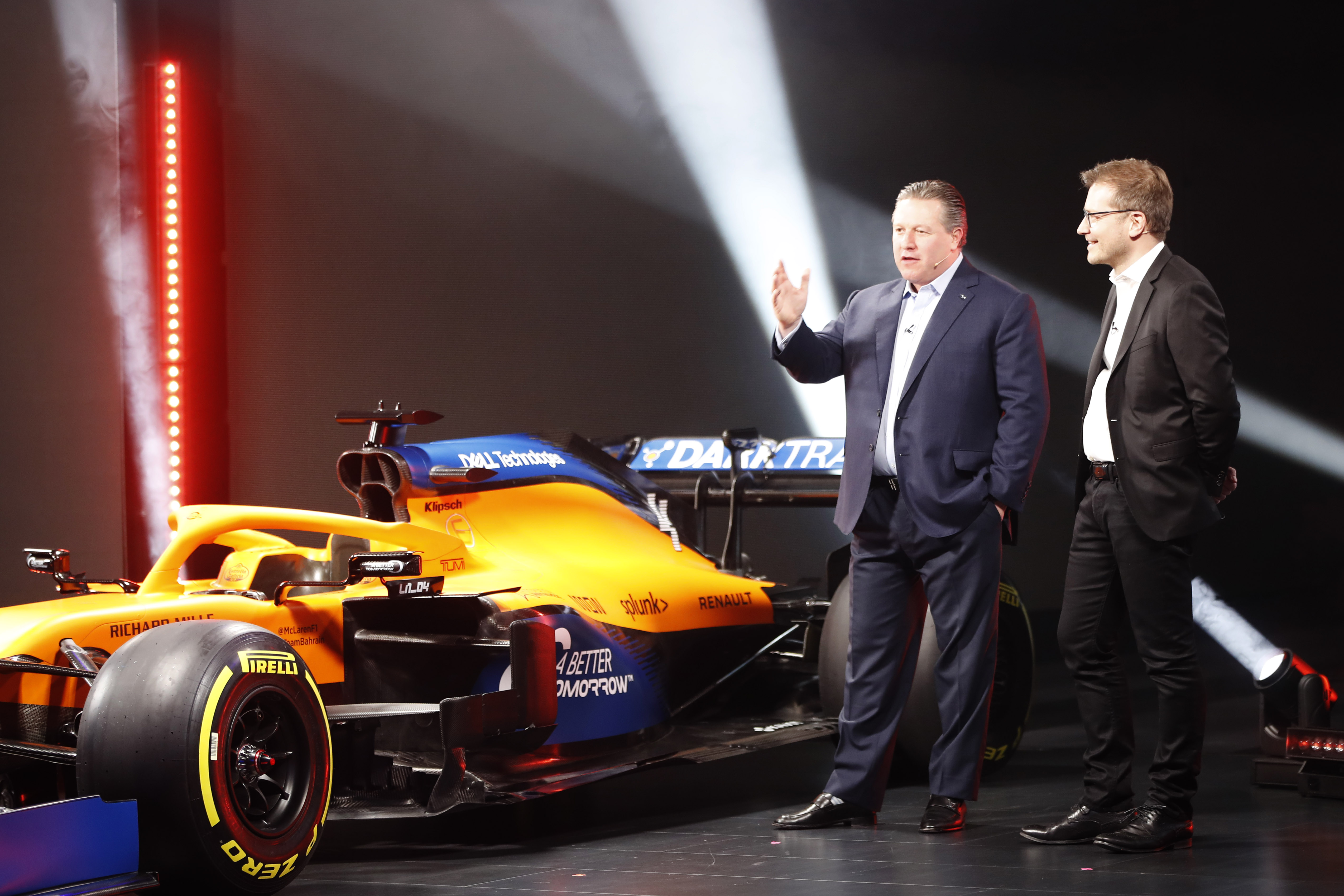 Zak Brown Andreas Seidl At The Mcl35 Launch. 13 February 2020