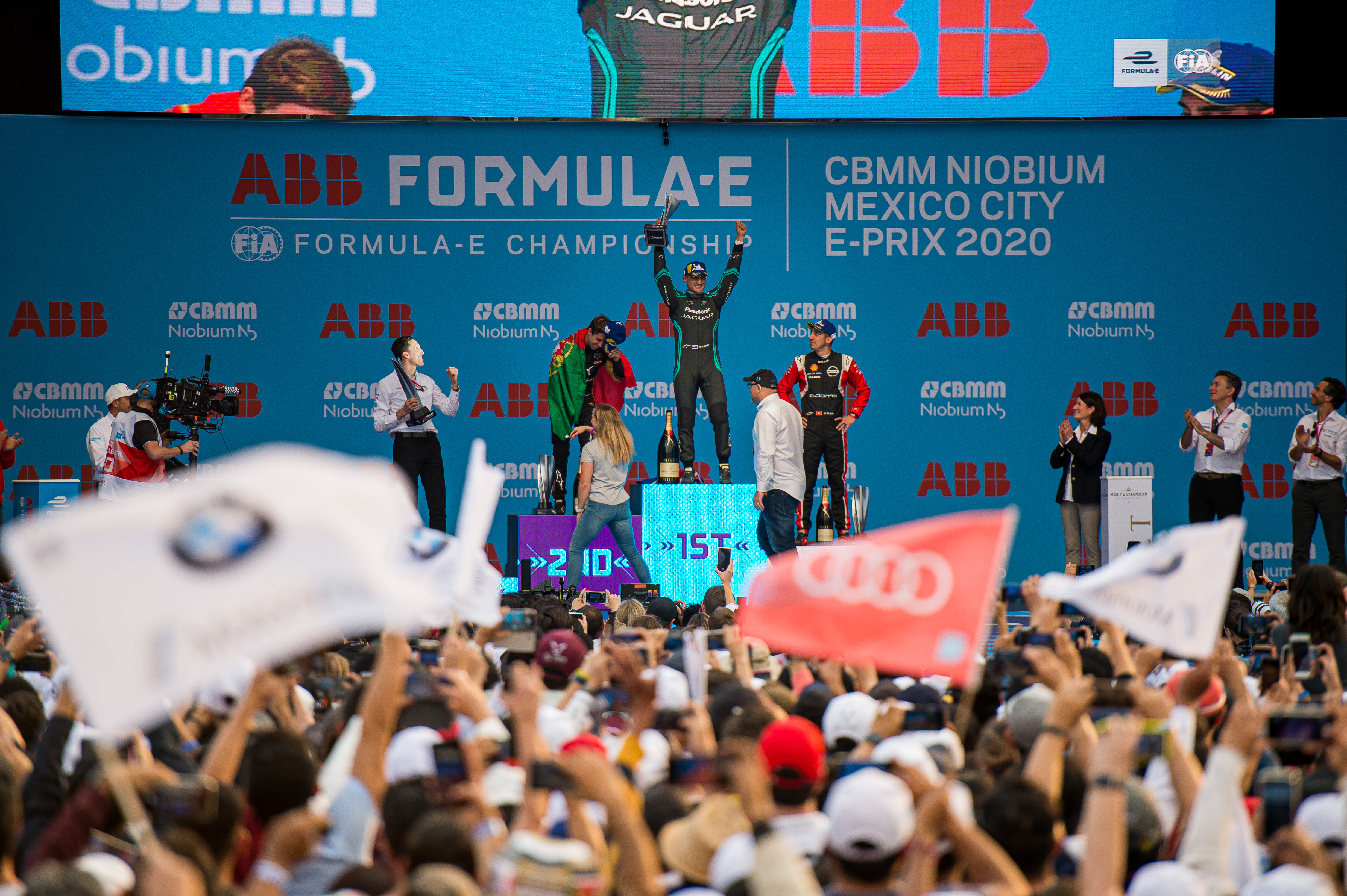 Mitch Evans Jaguar wins Mexico City Formula E 2020