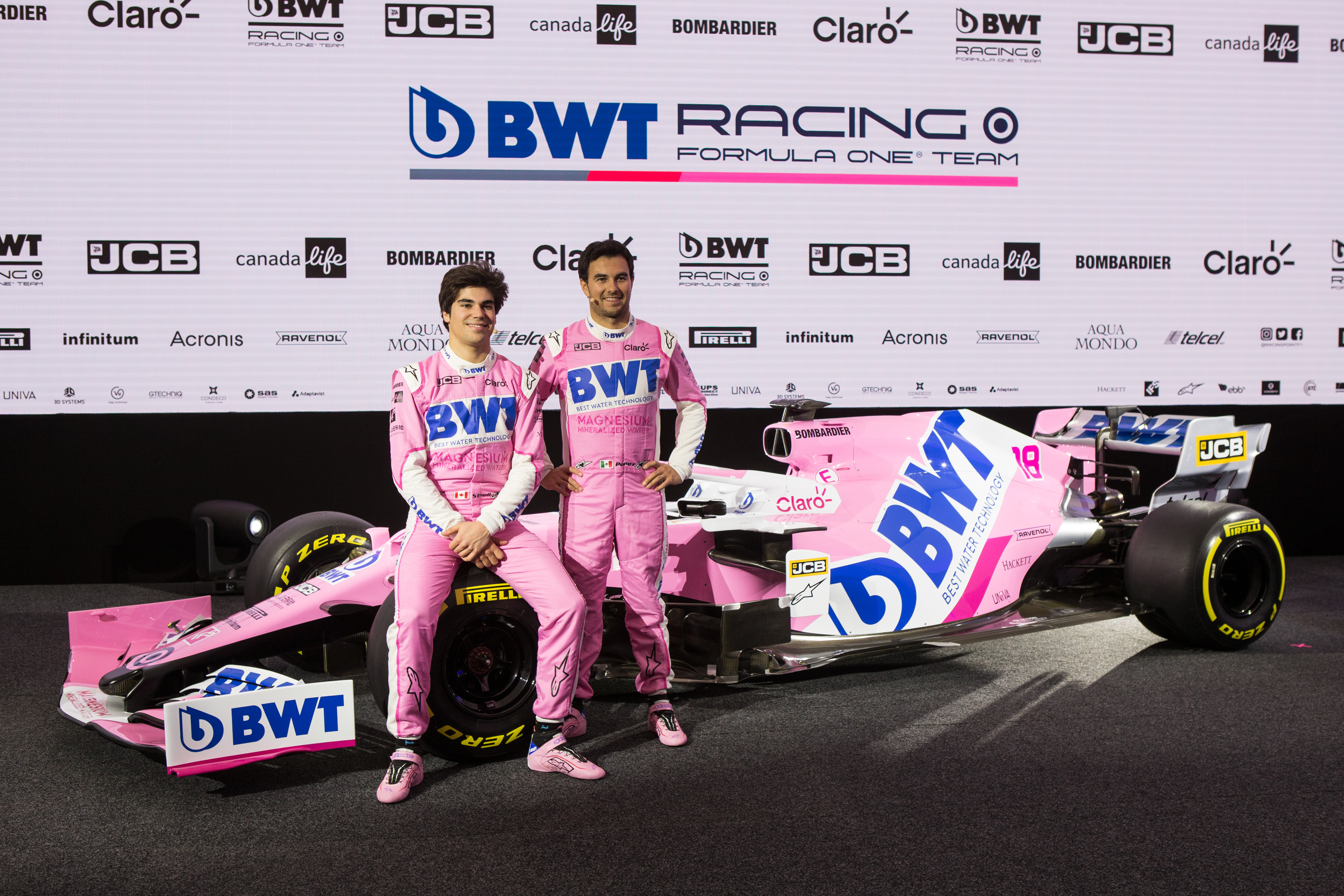 Lance Stroll Sergio Perez Racing Point F1 2020 launch