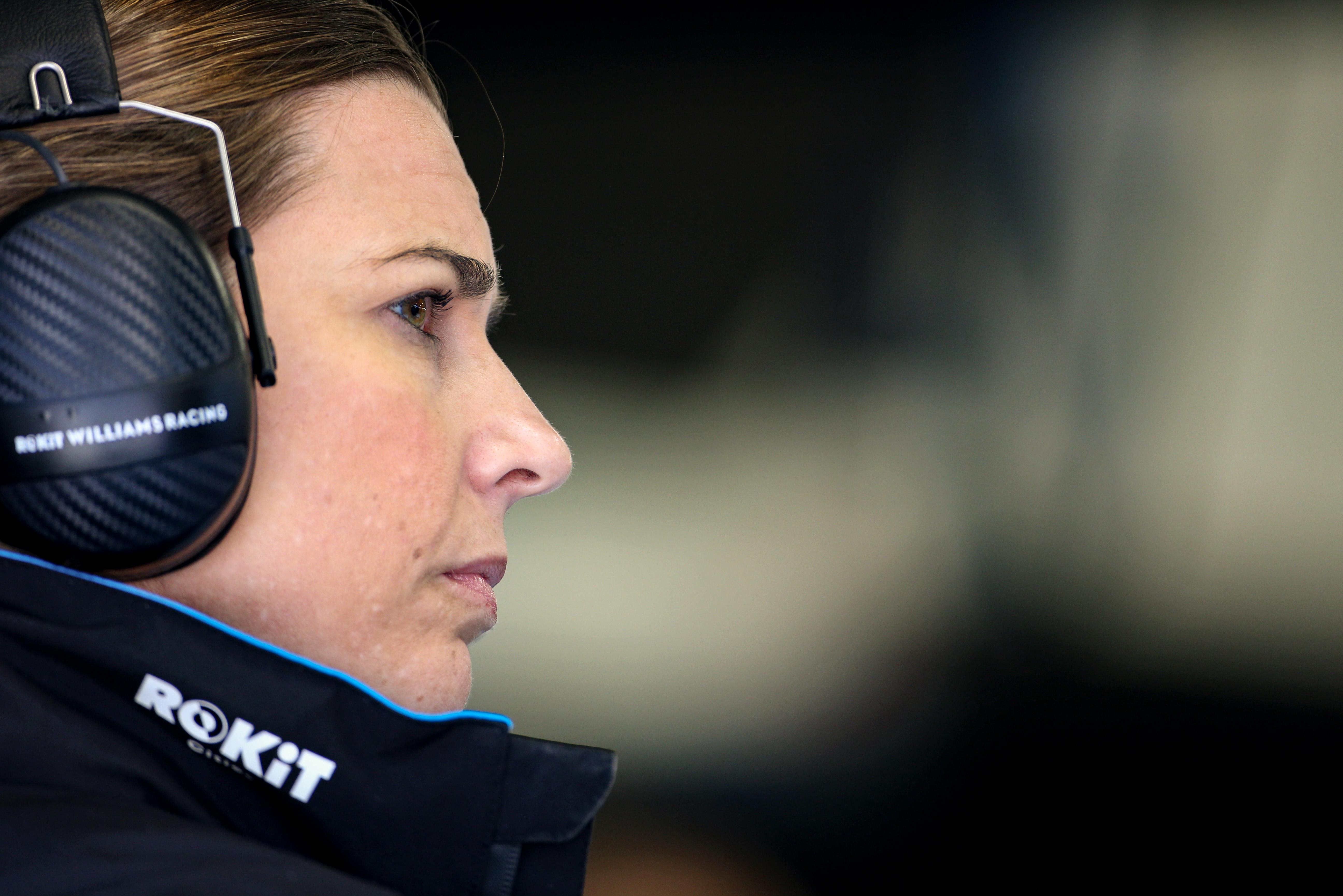 Claire Williams F1 testing Barcelona 2020
