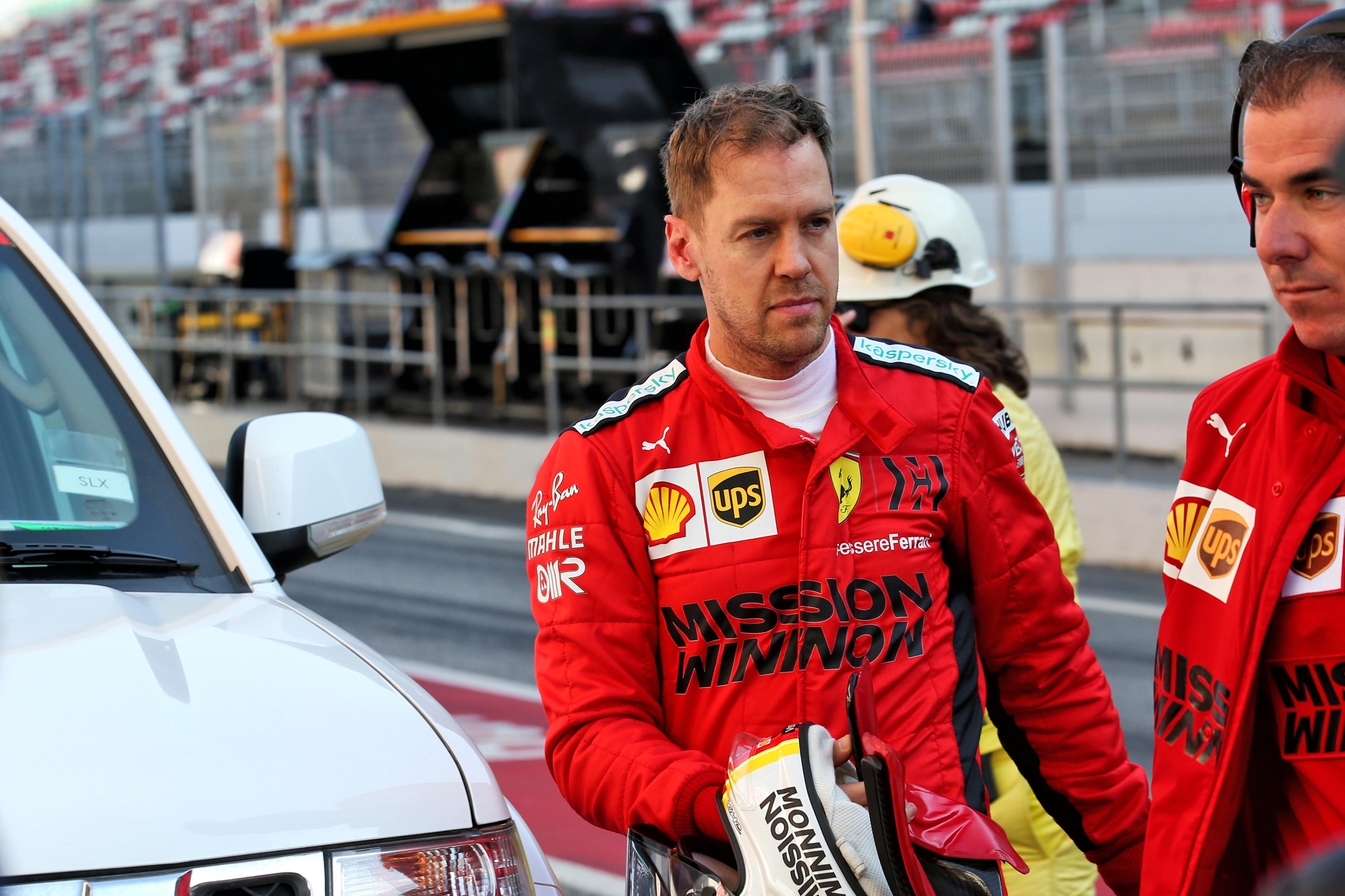 Sebastian Vettel Ferrari F1 testing 2020