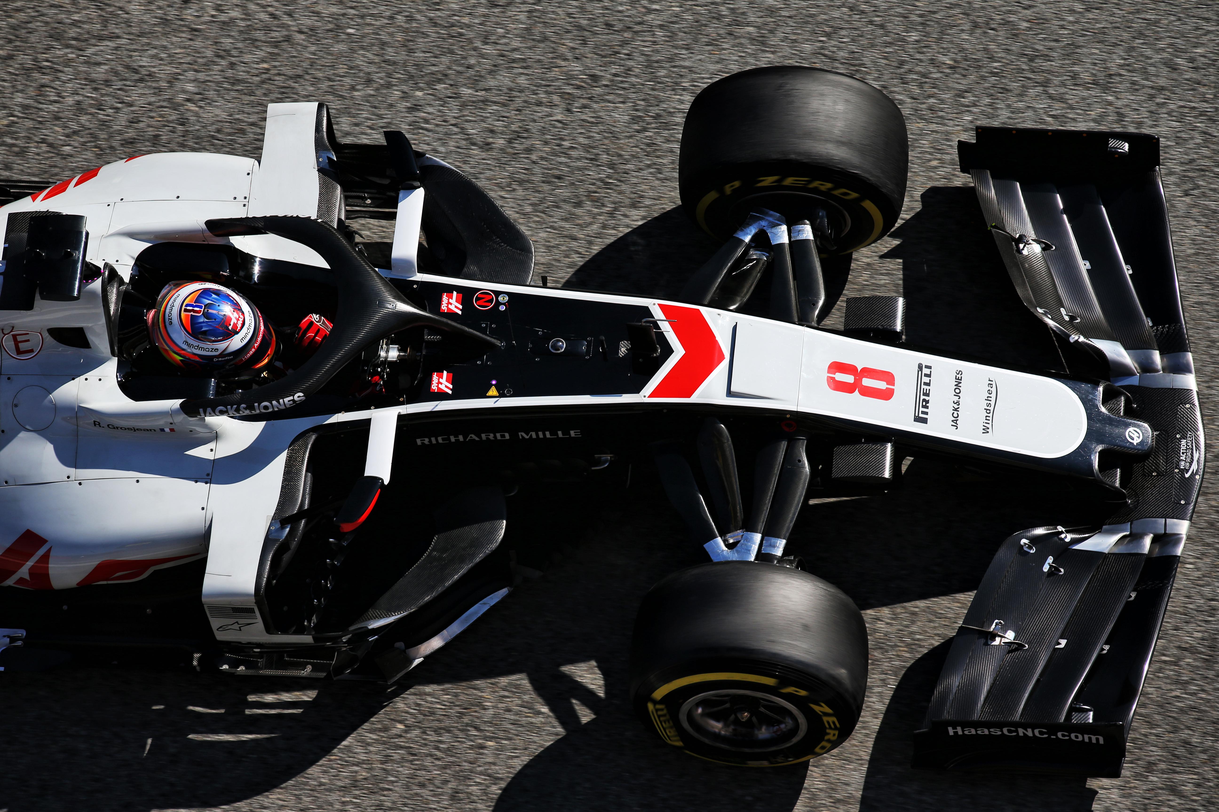 Romain Grosjean Haas F1 testing 2020