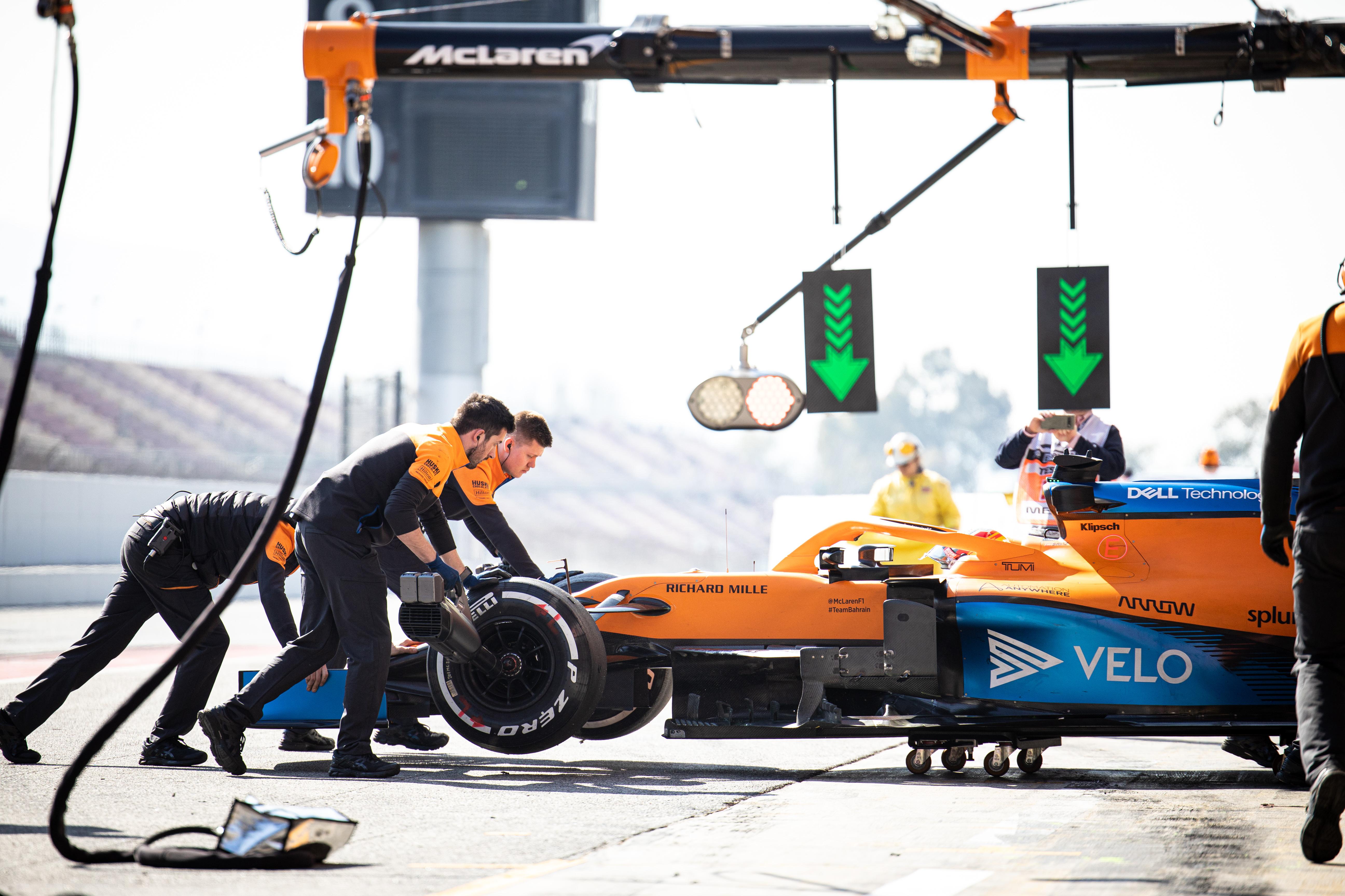 McLaren F1 testing Barcelona 2020