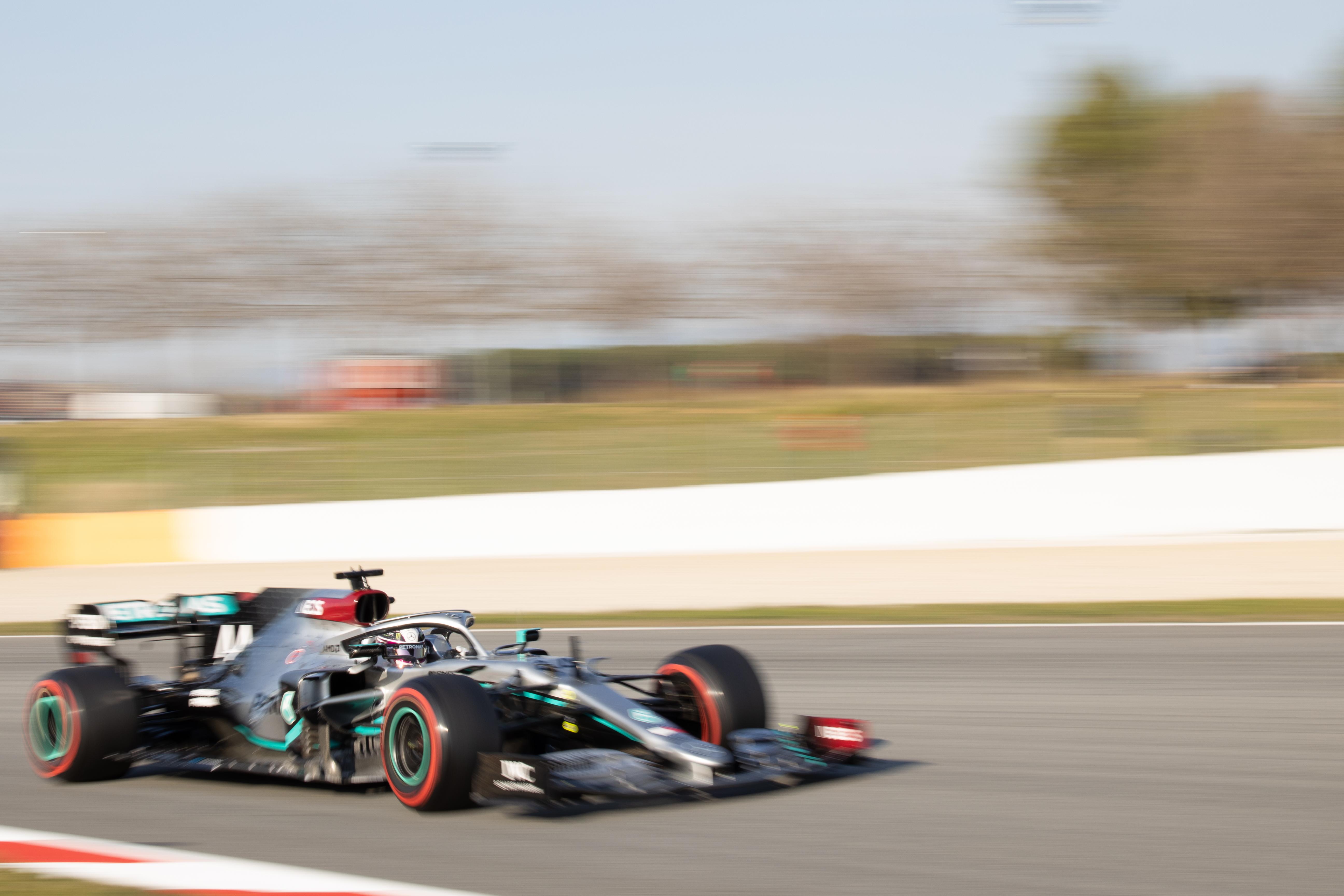 Mercedes F1 testing Barcelona 2020