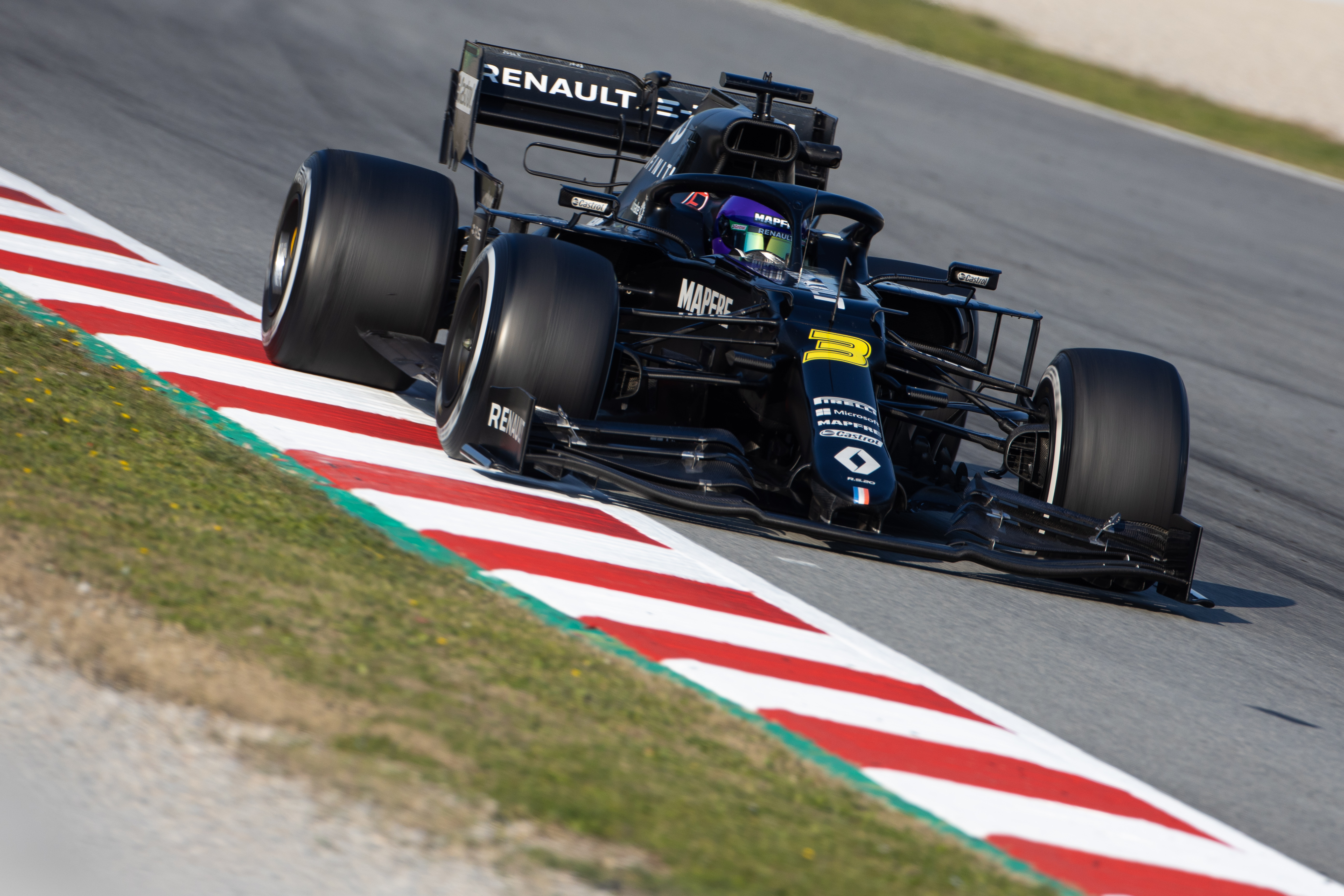 Renault F1 testing Barcelona 2020