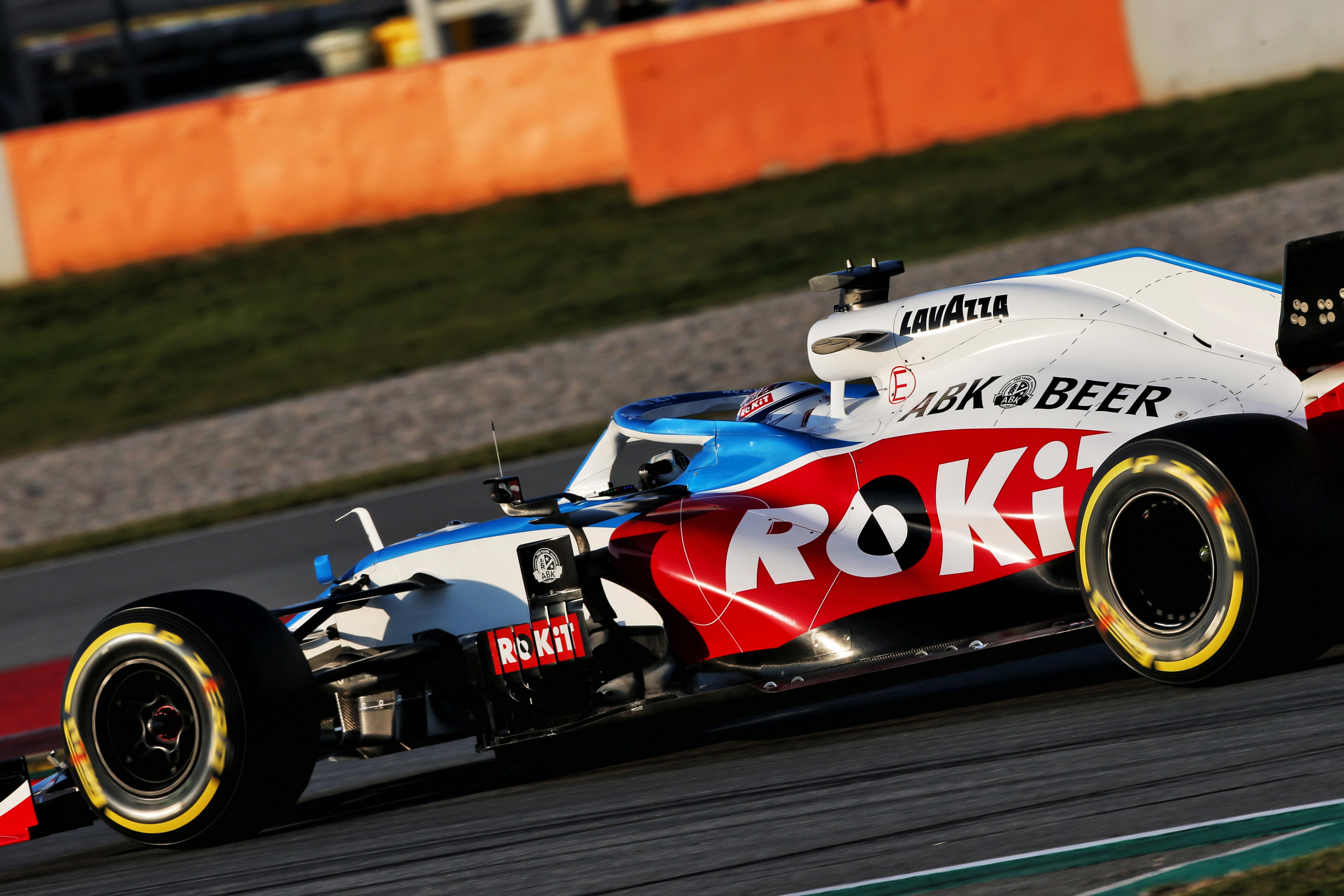 Williams F1 testing Barcelona 2020