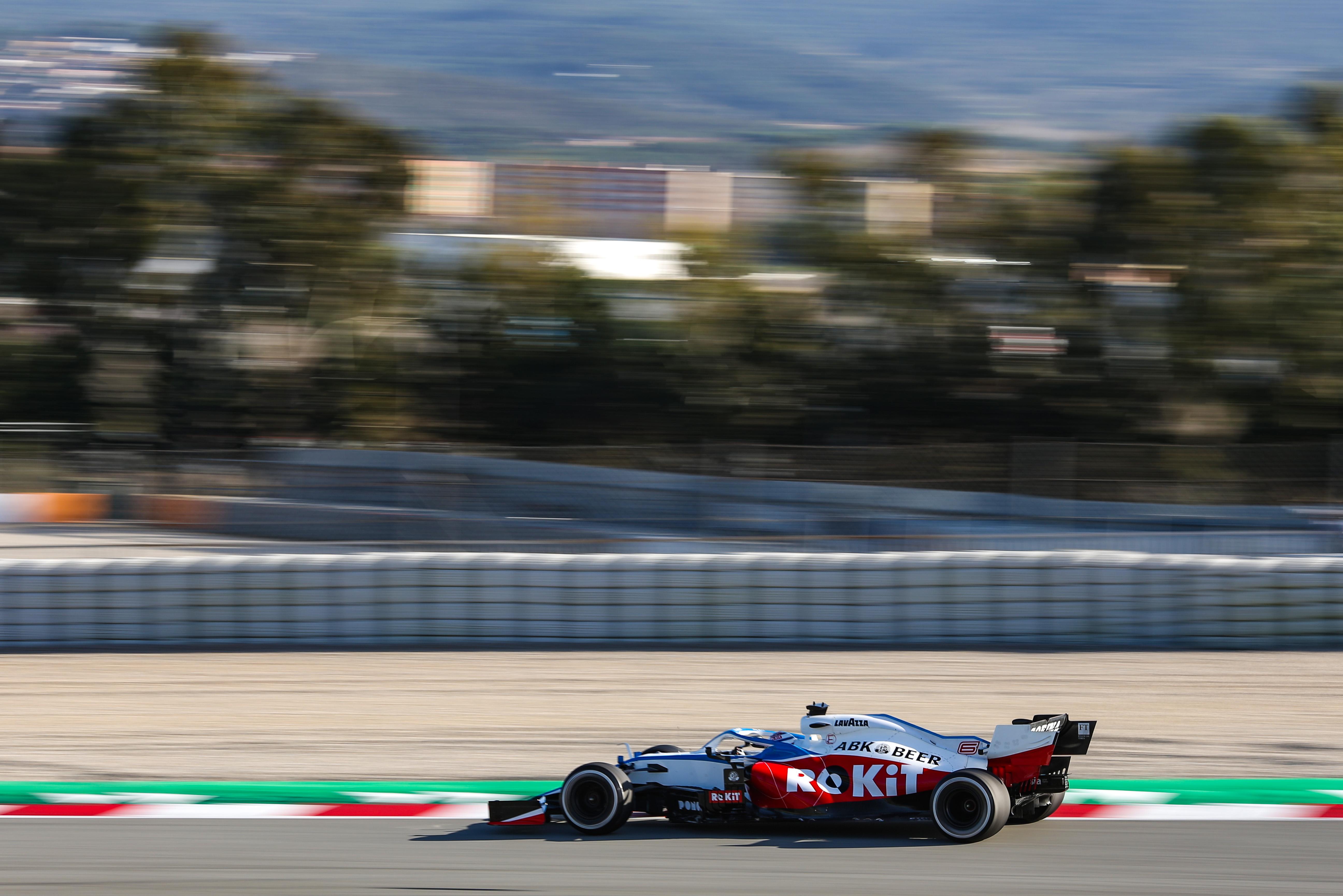 Nicholas Latifi Williams F1 testing Barcelona 2020