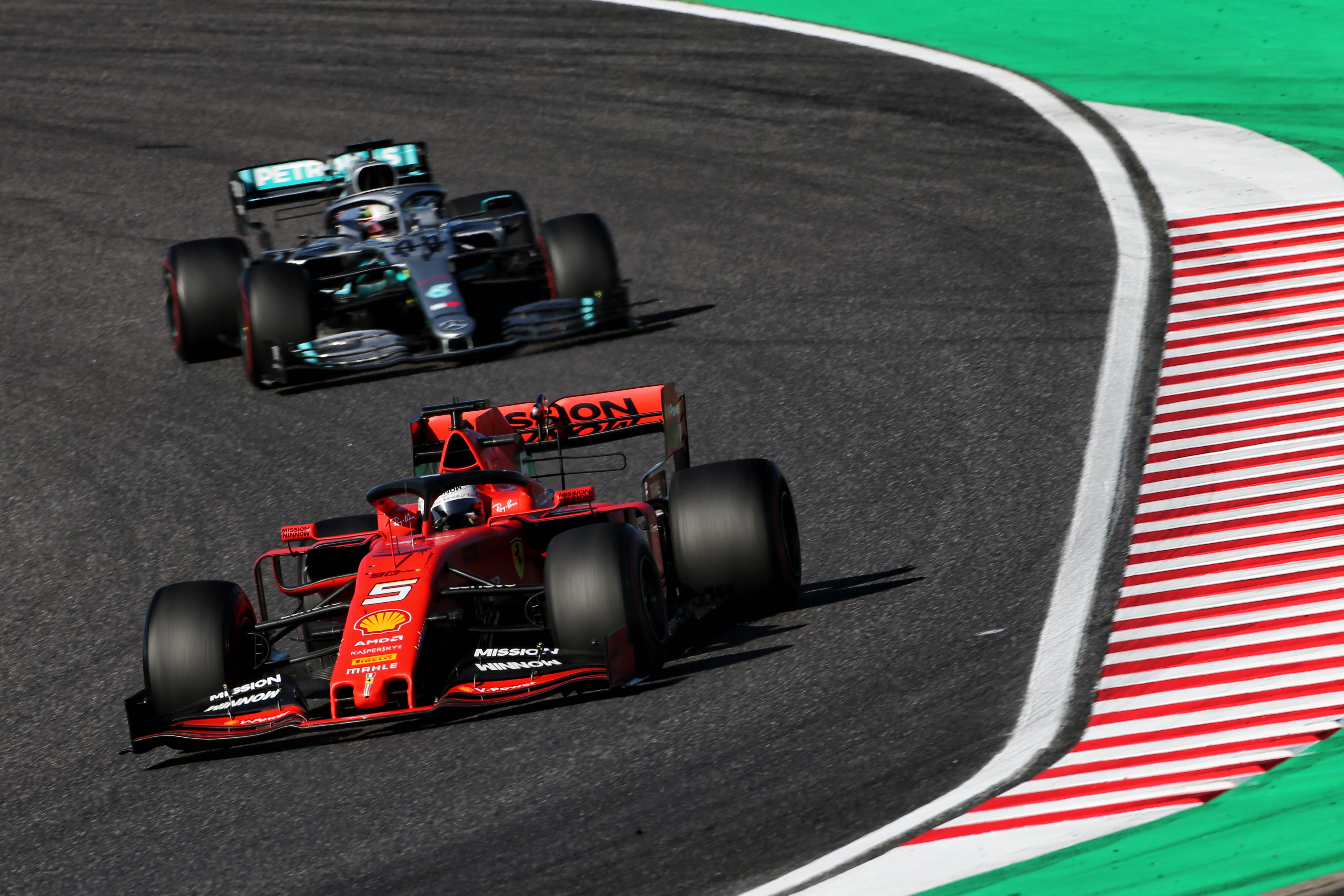 Ferrari Mercedes Japanese GP 2019