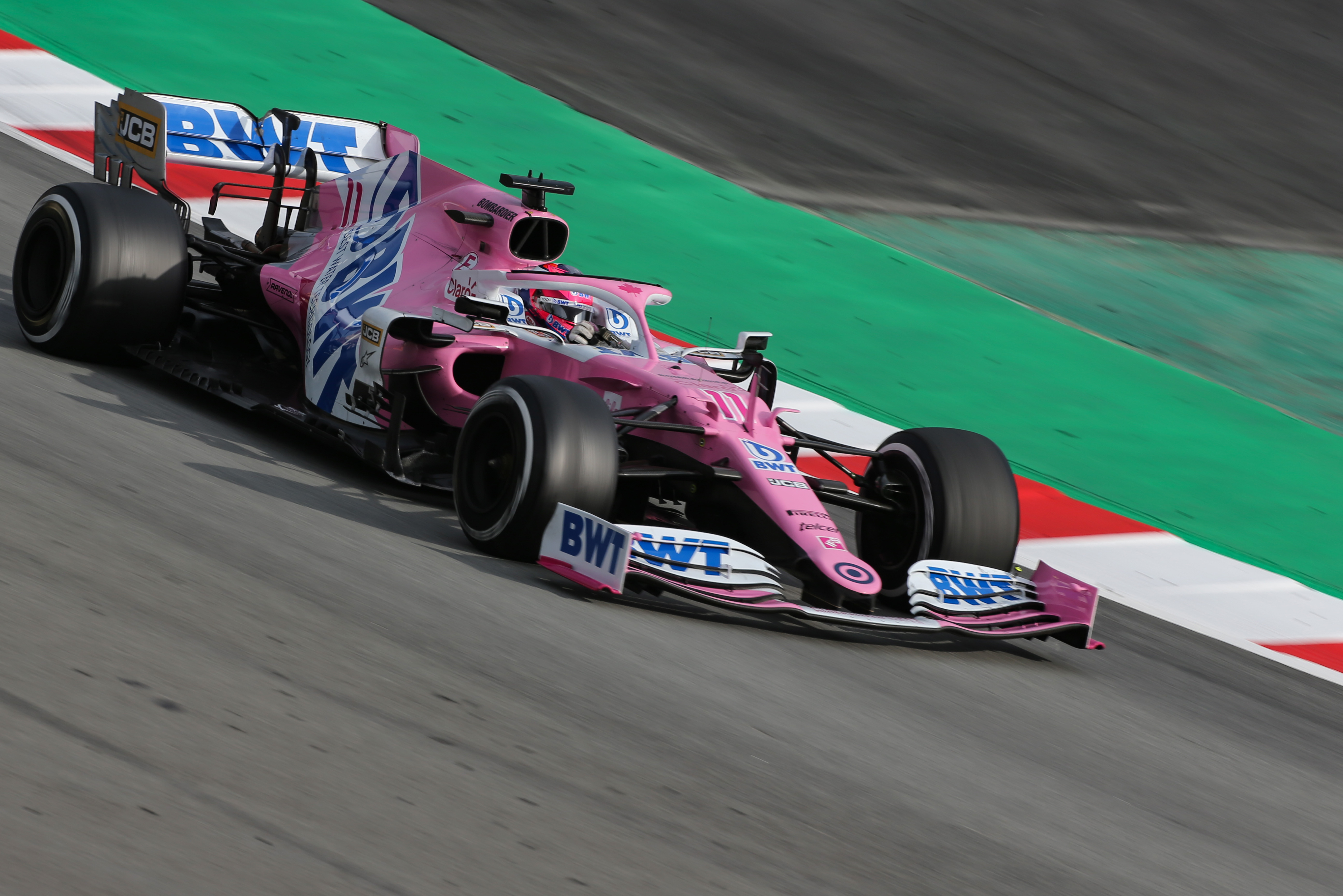 Sergio Perez Racing Point Barcelona F1 testing 2020