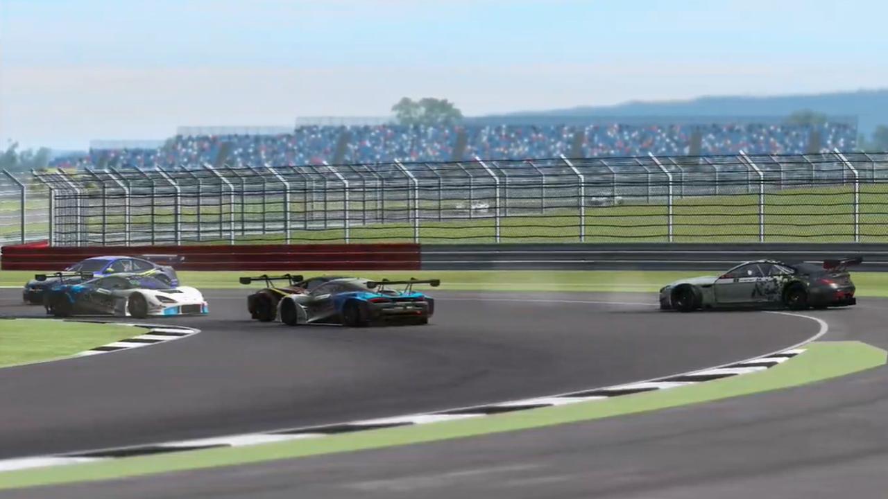 rFactor GT Pro Silverstone van buren accident esports