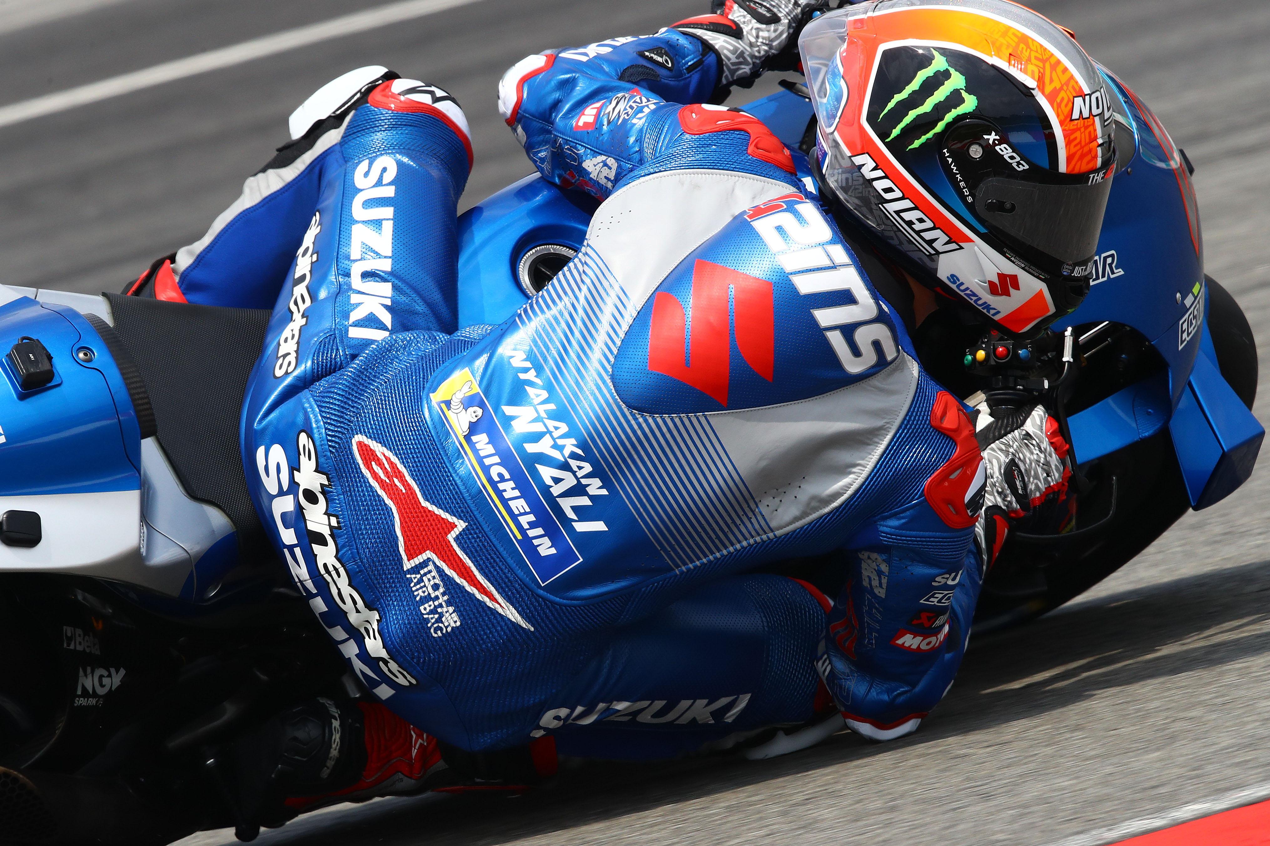 Alex Rins Suzuki MotoGP testing 2020