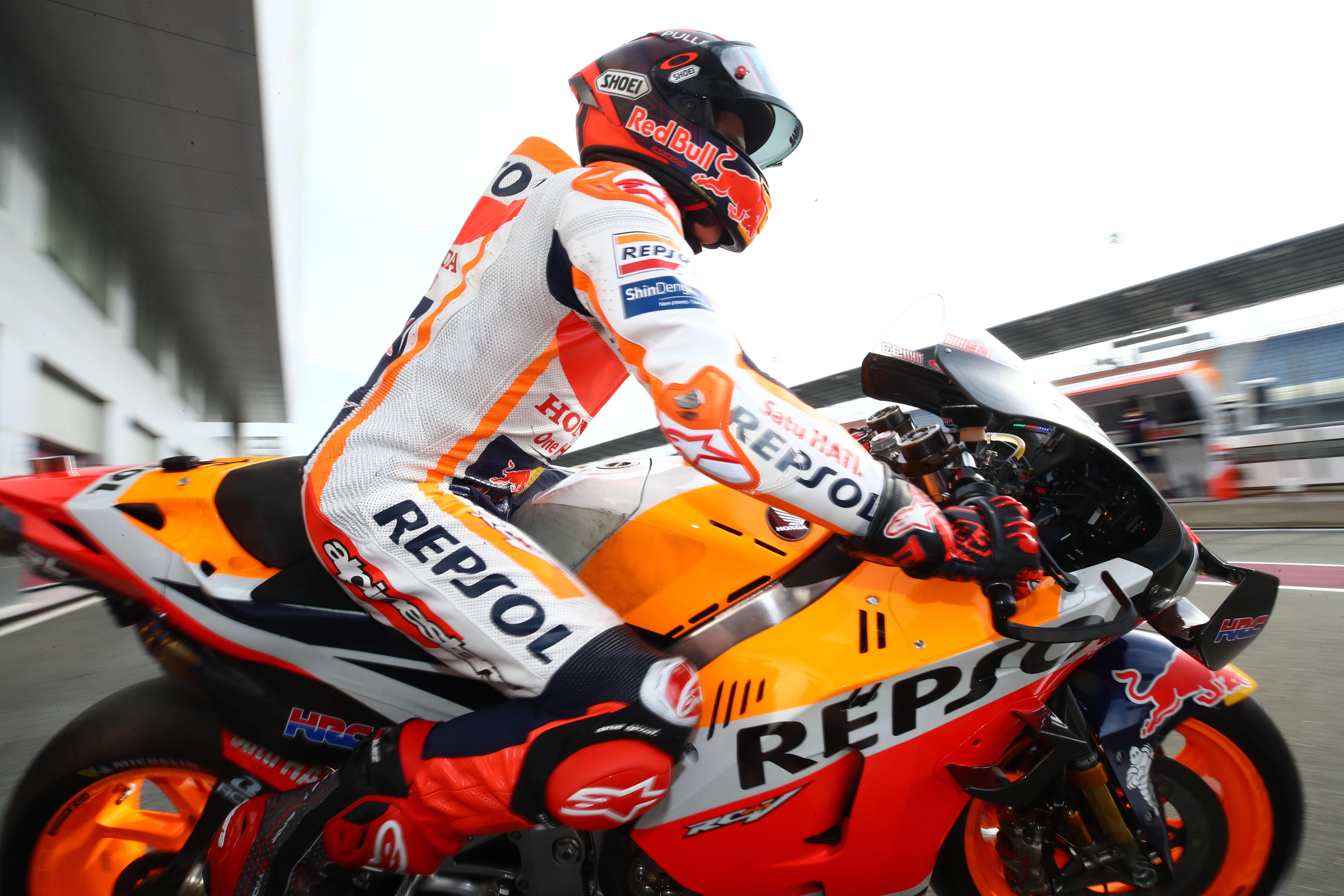 Marc Marquez Honda MotoGP testing Qatar 2020