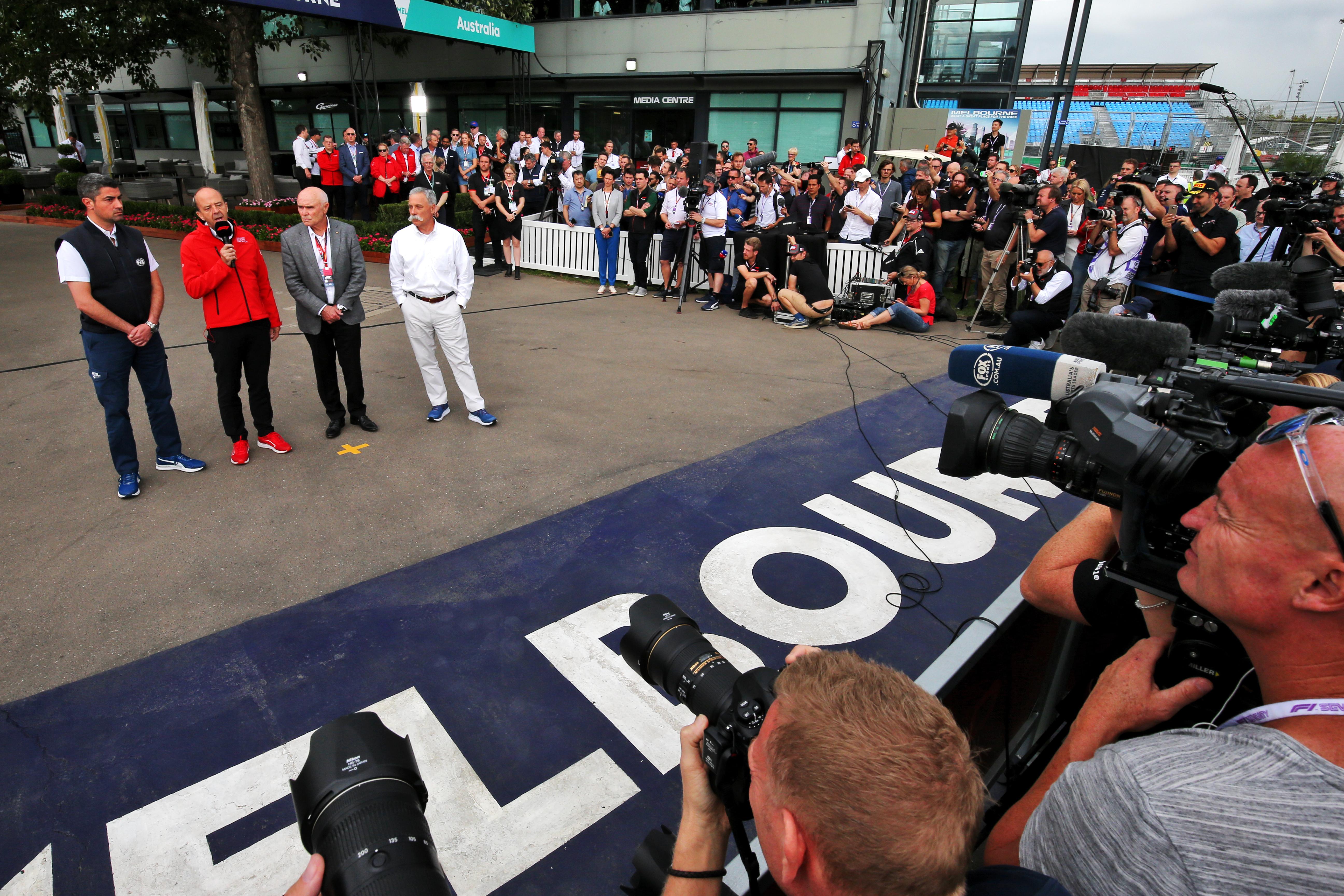 Chase Carey F1 Australia coronavirus cancellation 2020