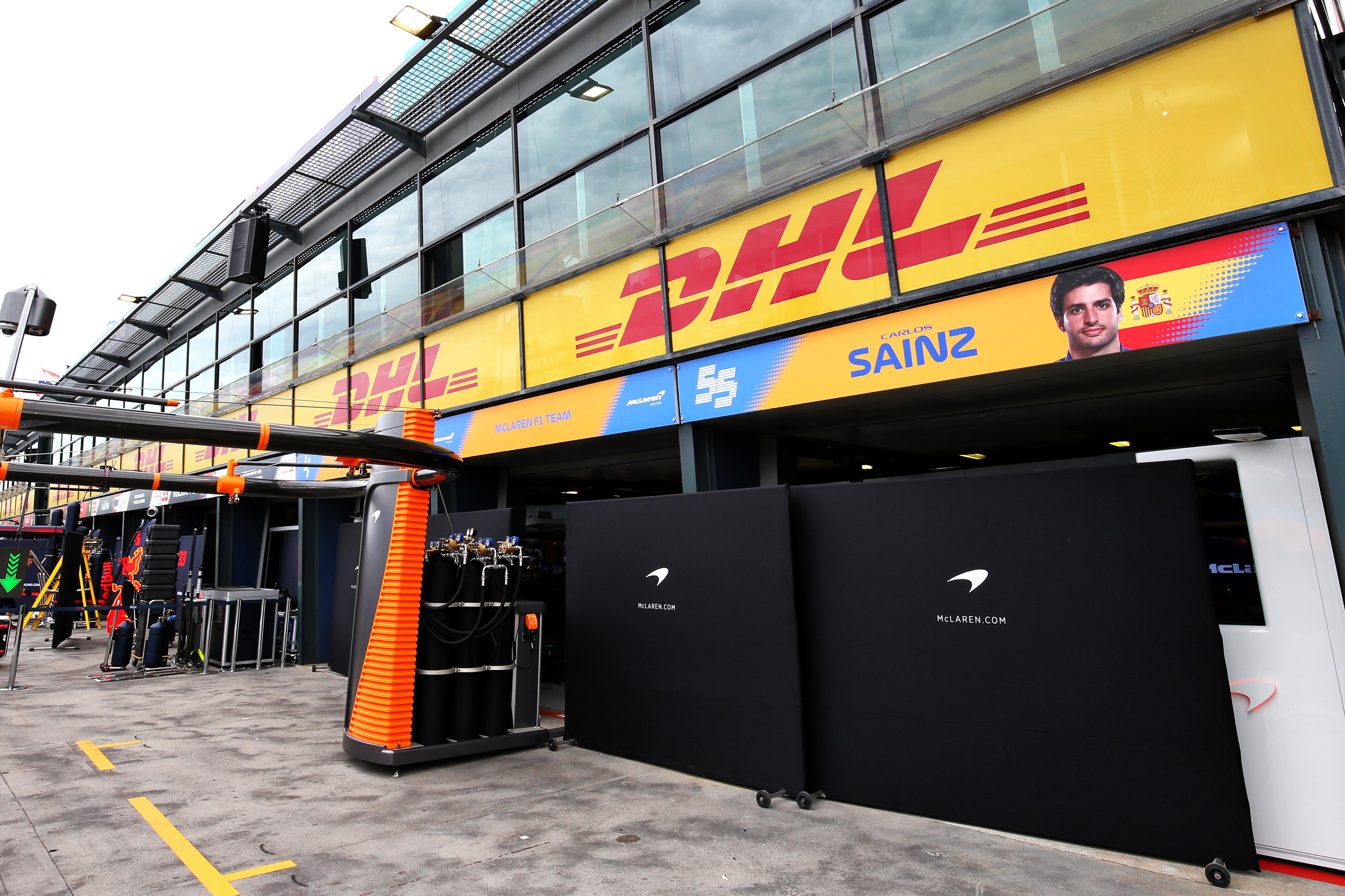 McLaren garage Australian Grand Prix 2020