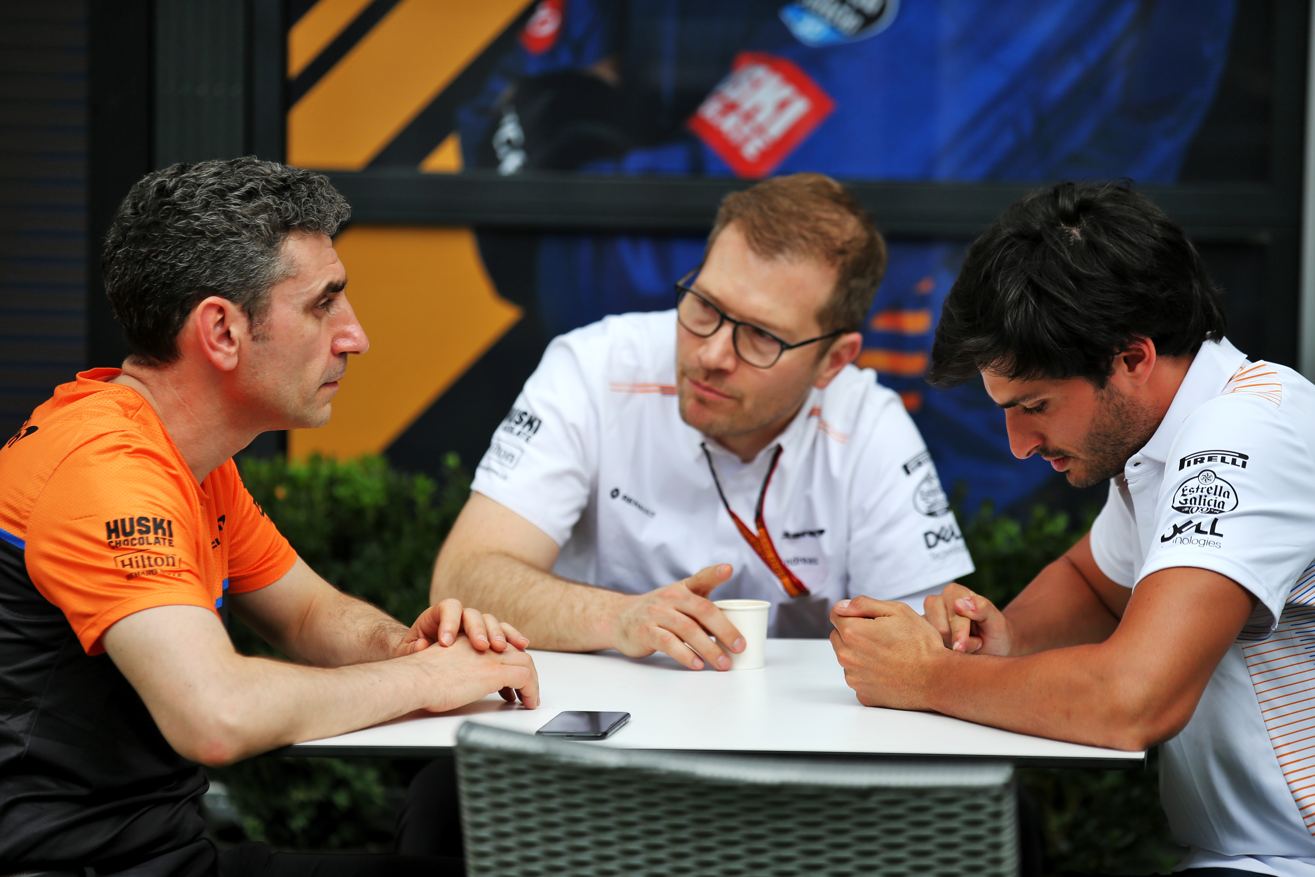 Andrea Stella Andreas Seidl Carlos Sainz Jr McLaren Australian Grand Prix 2020