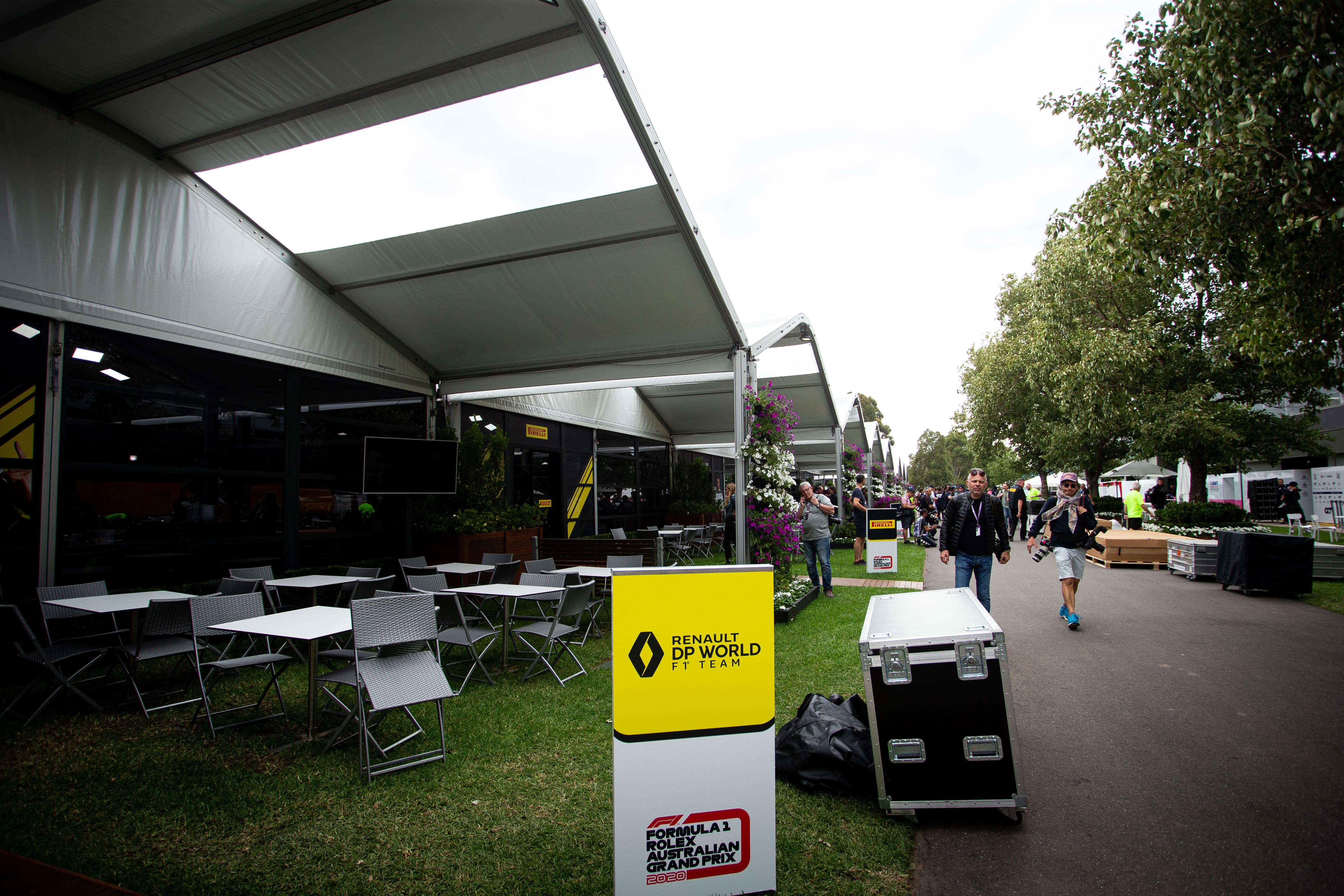 Renault paddock area Australian Grand Prix 2020