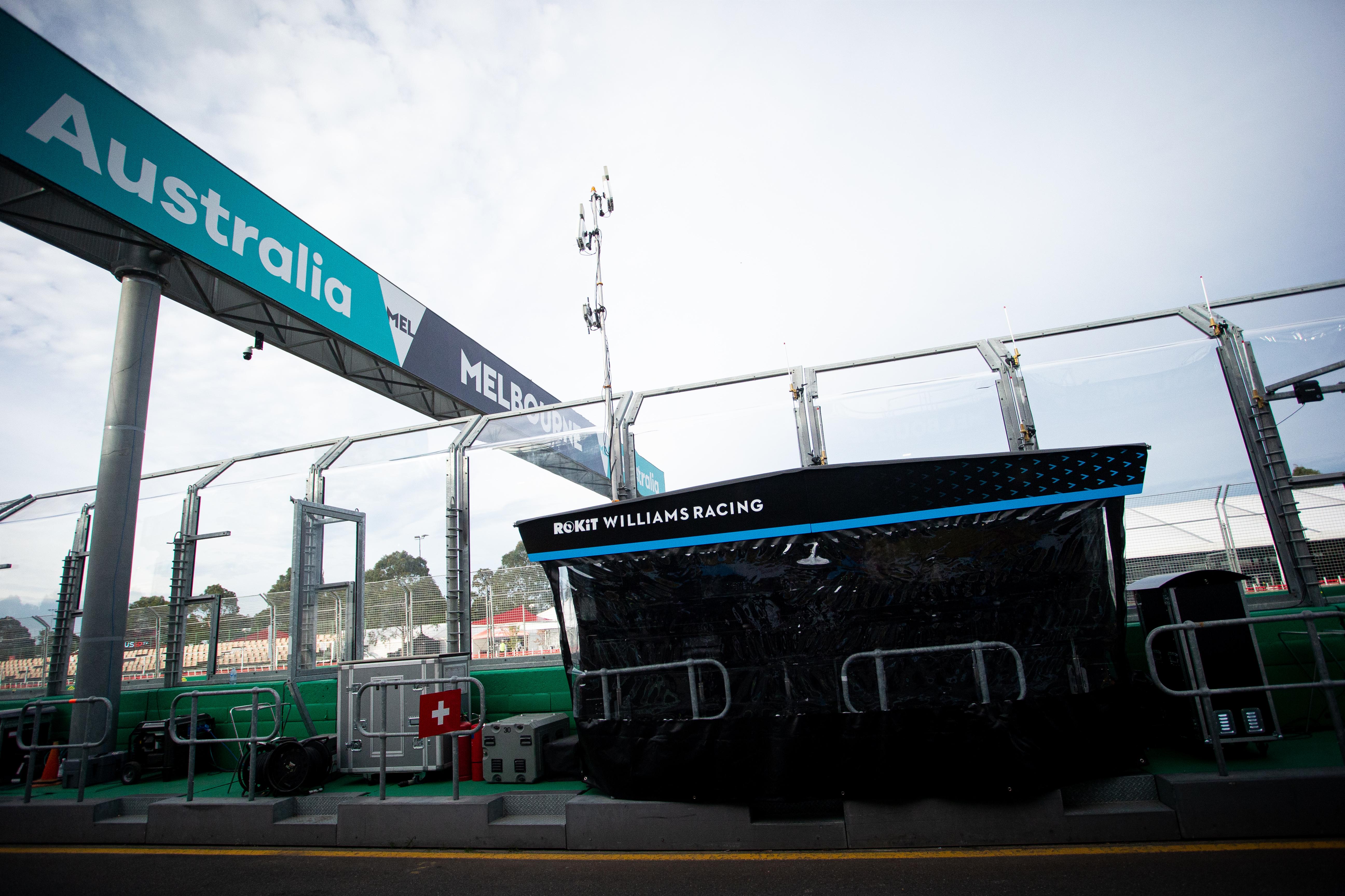 Williams pitwall Australian Grand Prix 2020