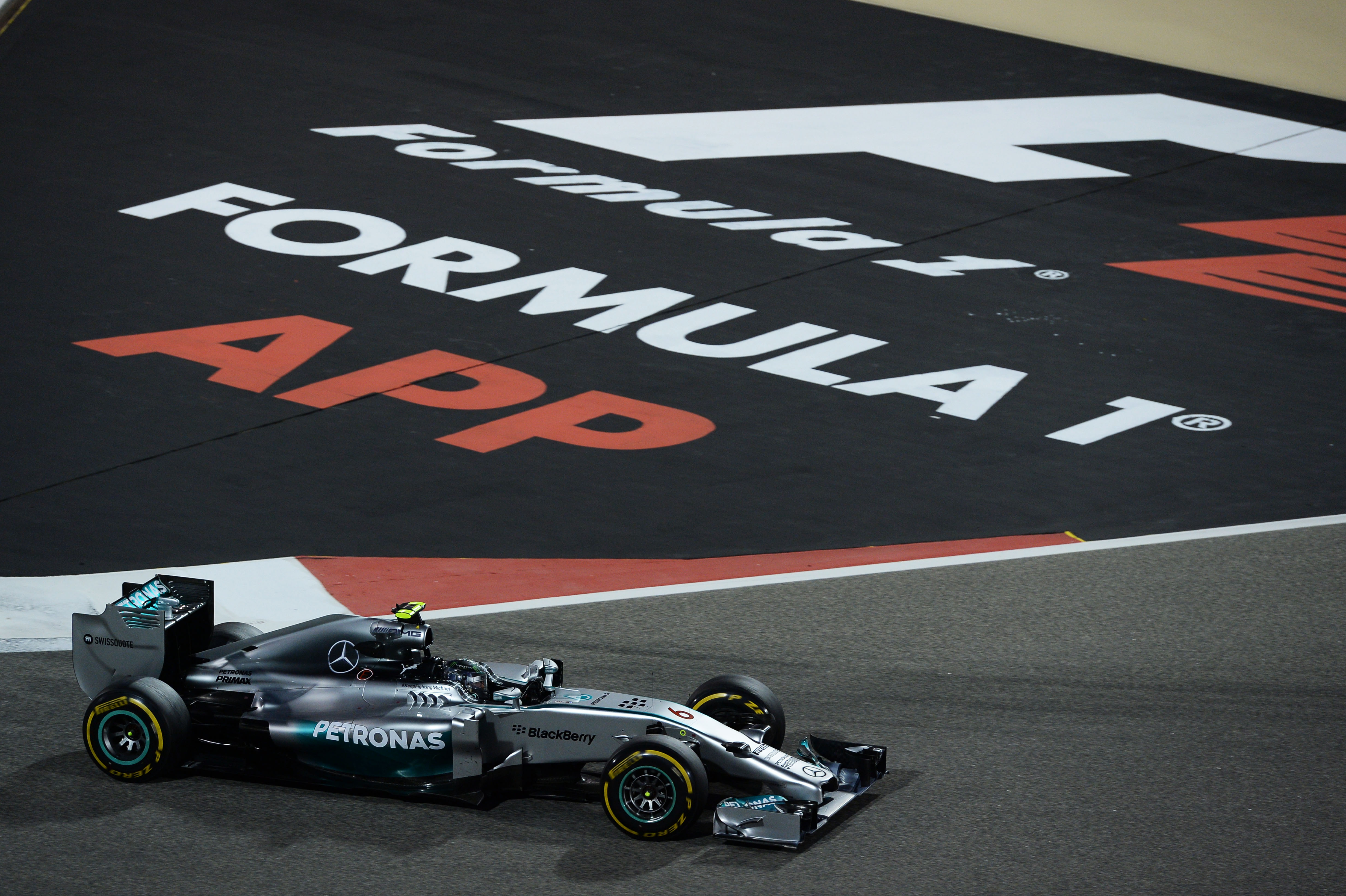 Nico Rosberg Mercedes F1 Bahrain 2014