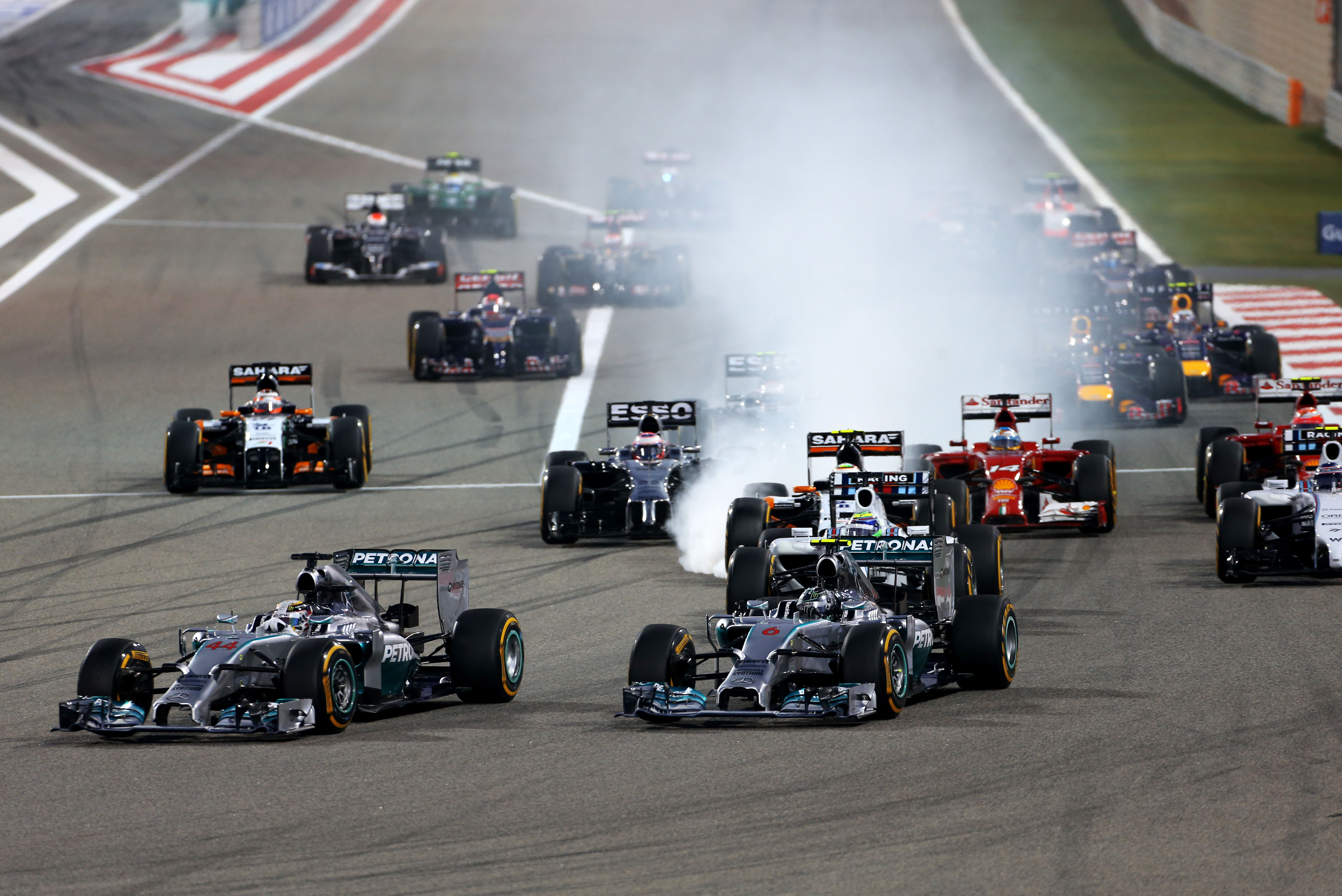 Lewis Hamilton Nico Rosberg Mercedes F1 2014