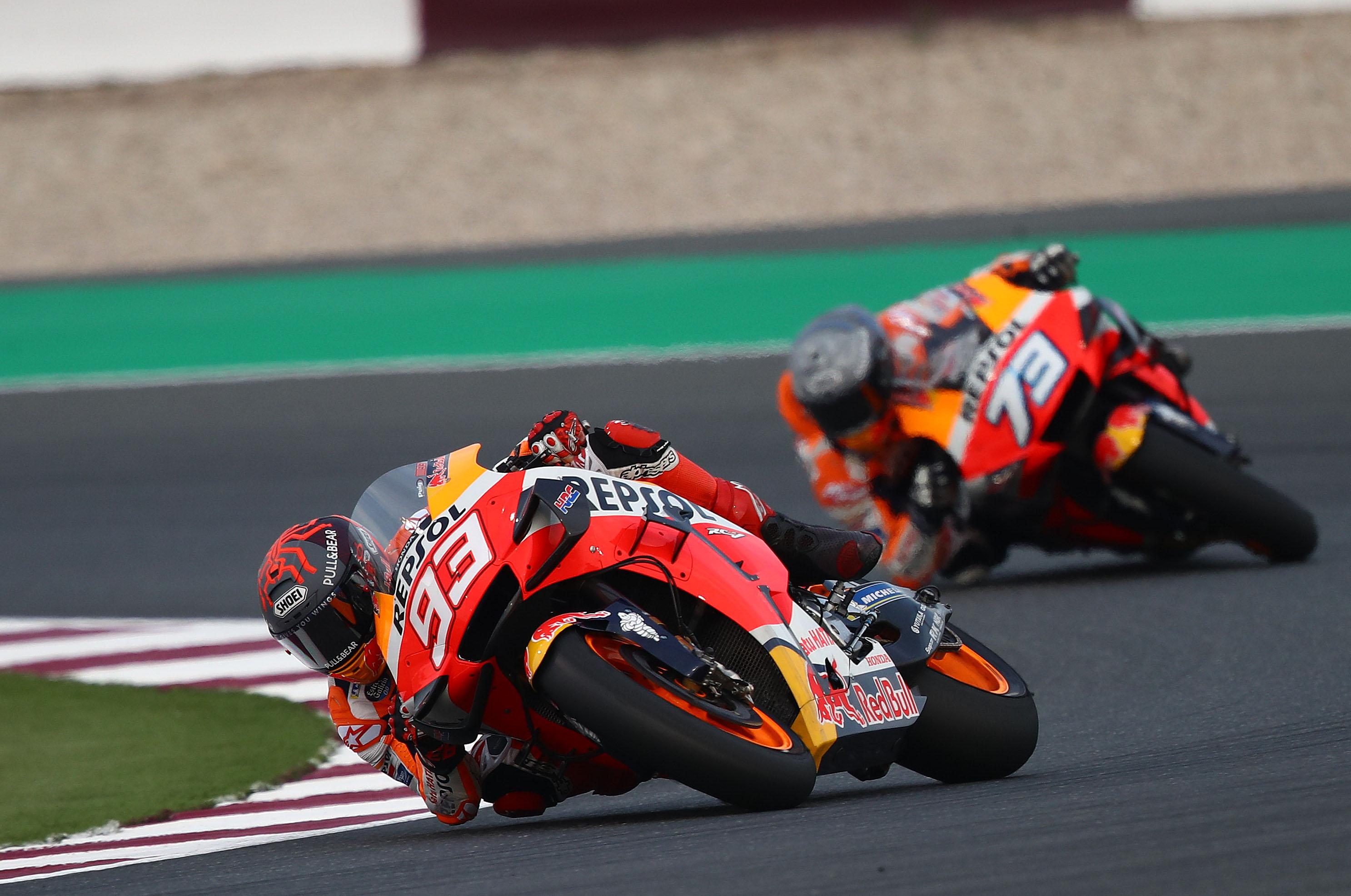 Marc Marquez Alex Marquez Honda Qatar MotoGP testing 2020