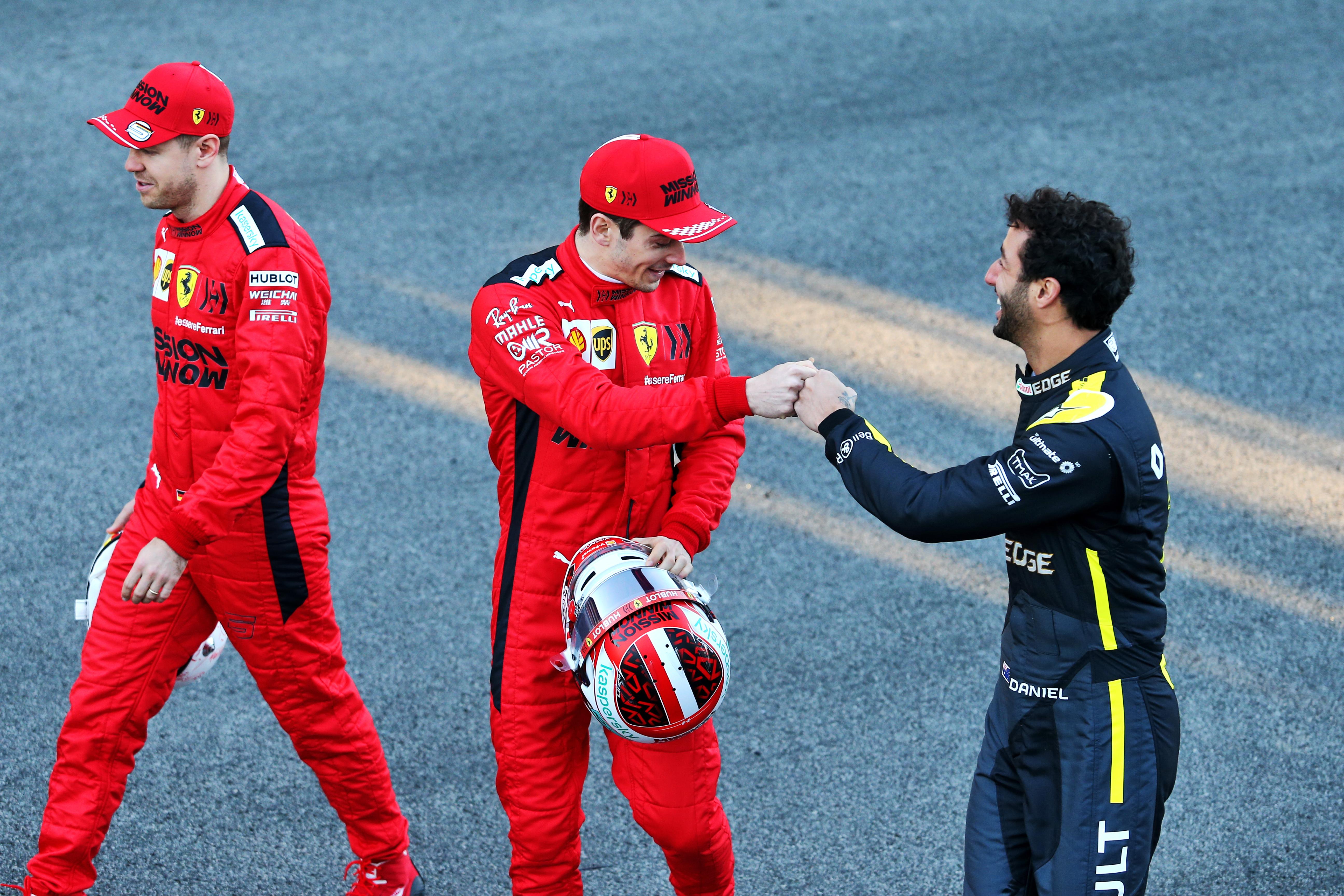 Leclerc Ricciardo Ferrari Renault F1 2021
