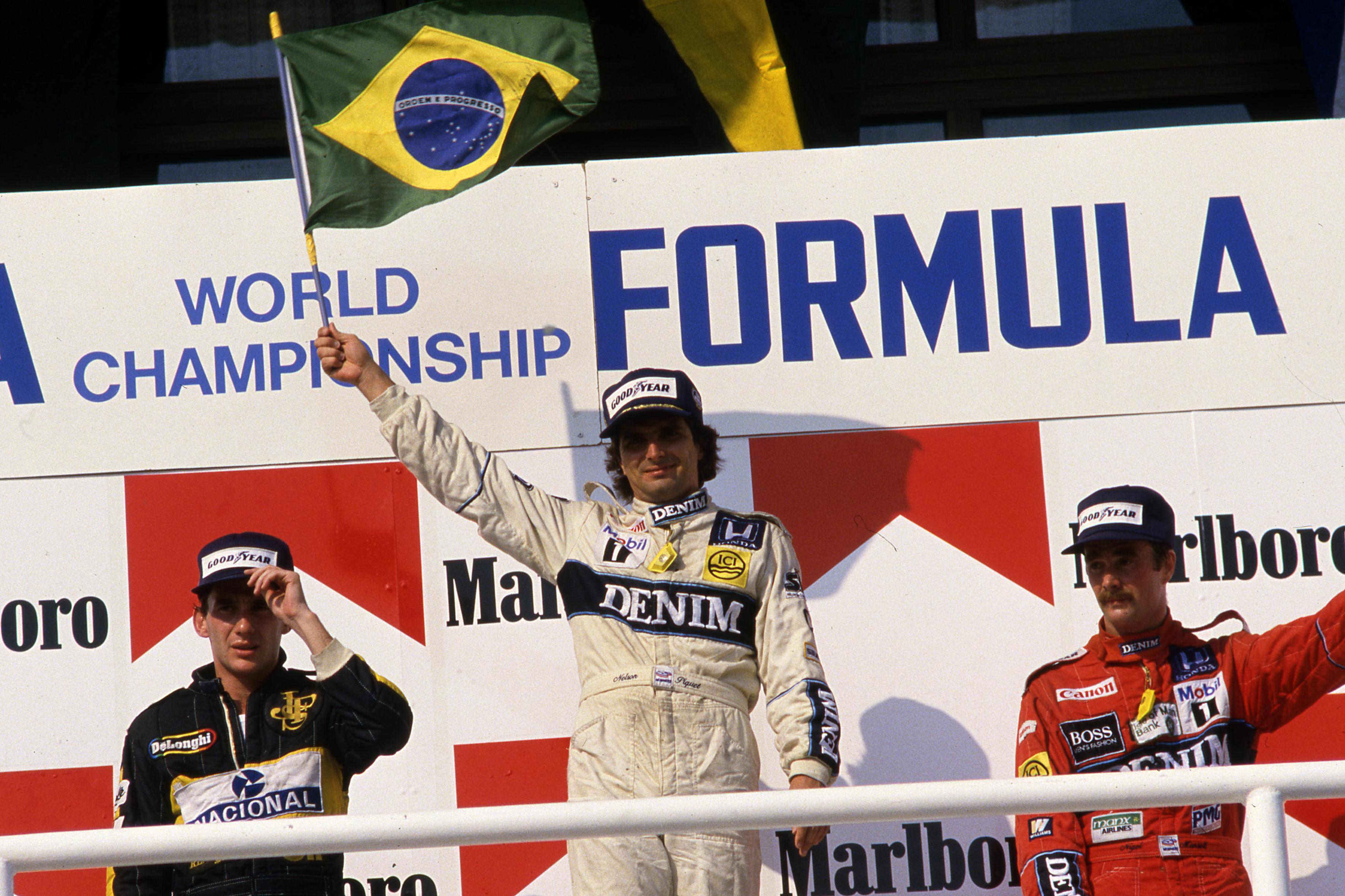 Piquet Senna Hungarian Grand Prix Hungaroring 1986