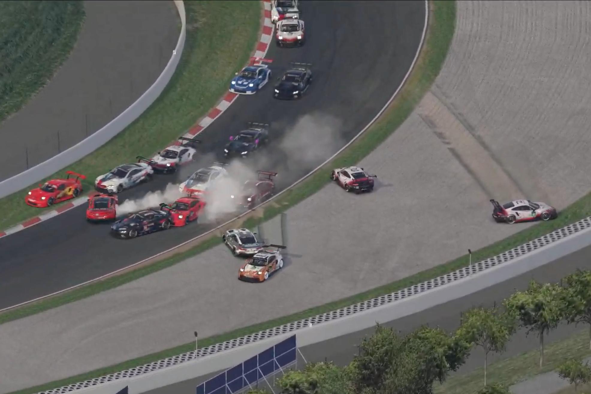 Redline R2 Second Race Crash Pic