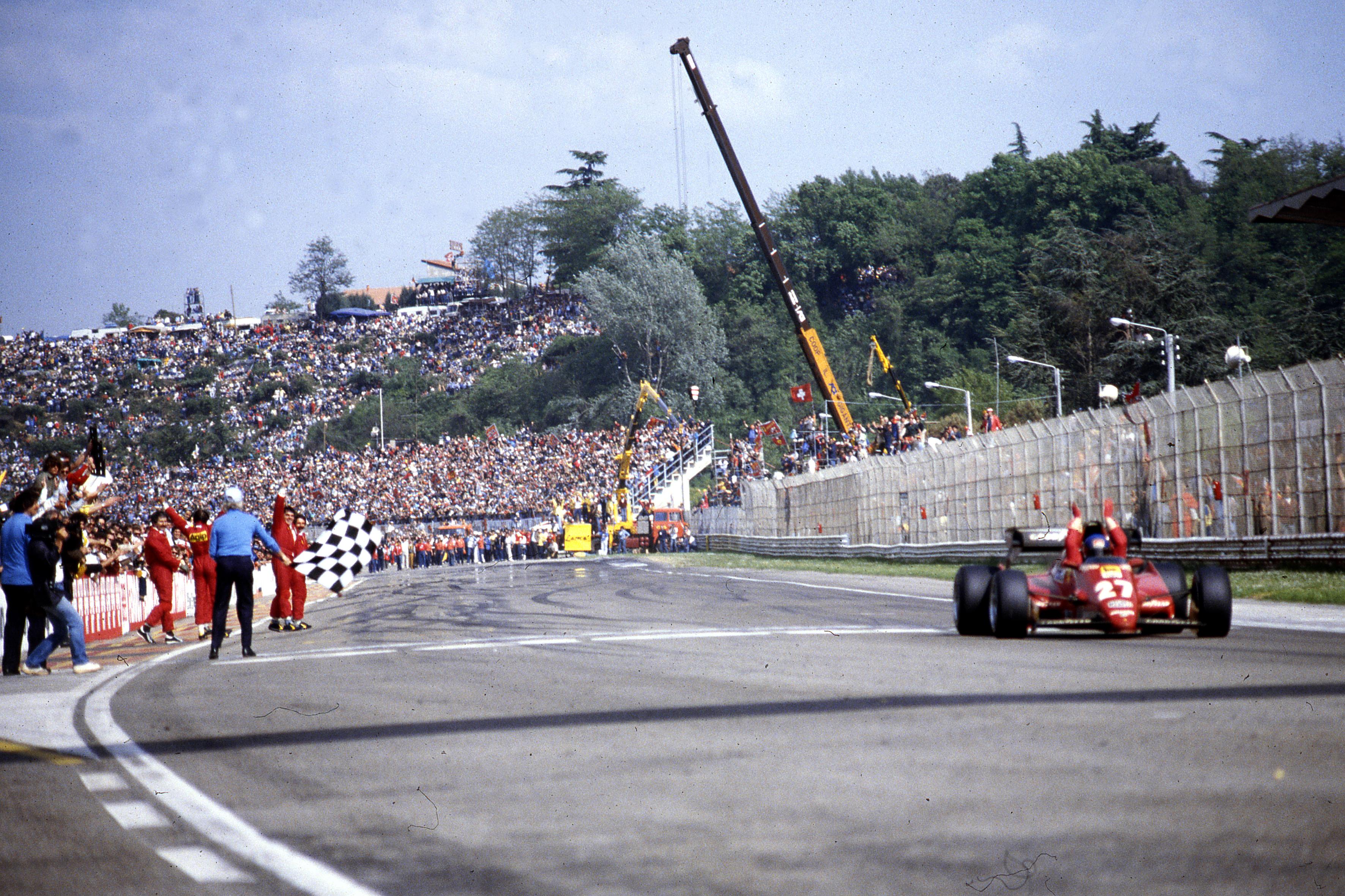 Patrick Tambay Ferrari wins San Marino Grand Prix 1983 Imola