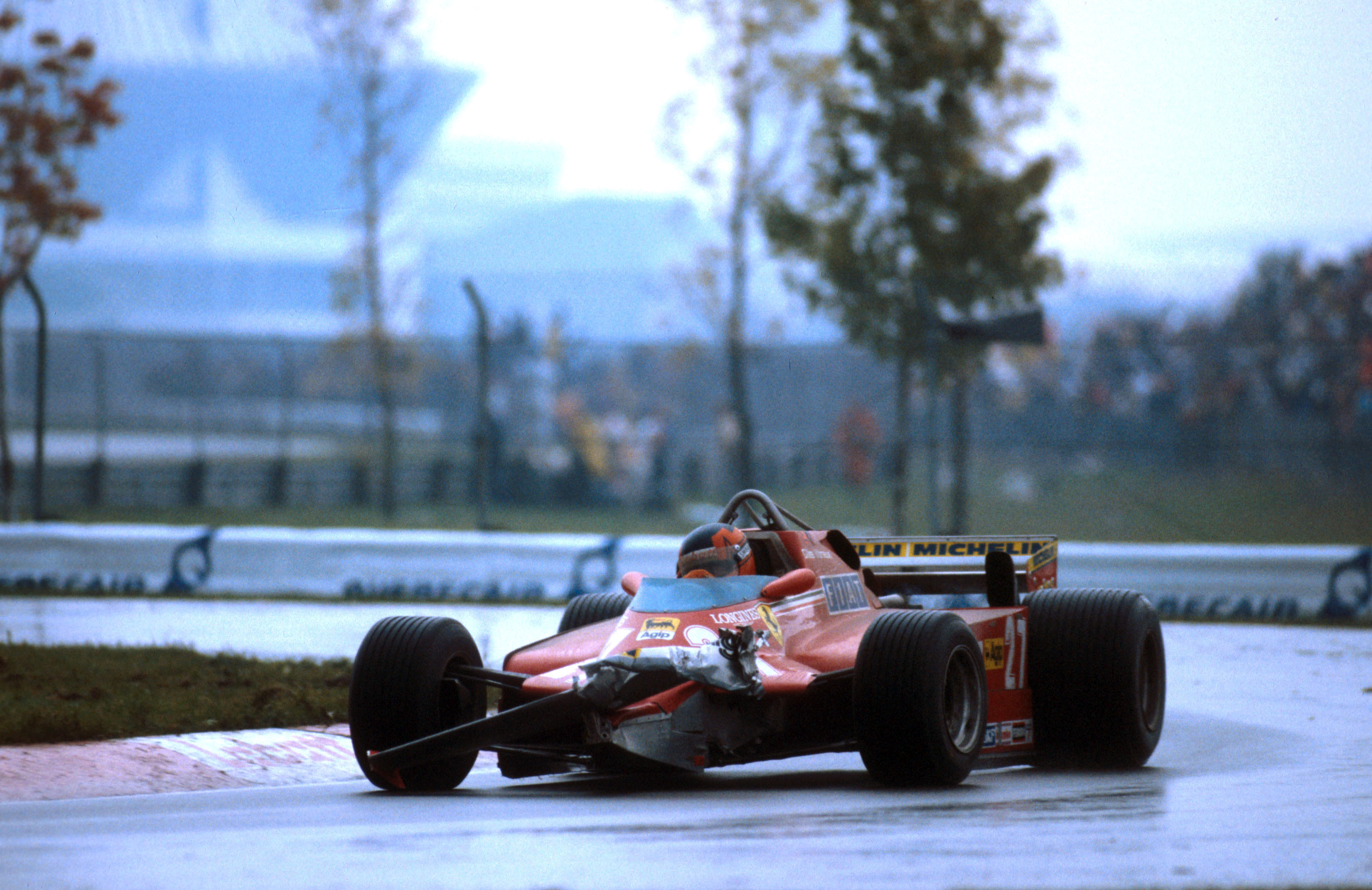 Gilles Villeneuve Ferrari damage Canadian Grand Prix 1981 Montreal
