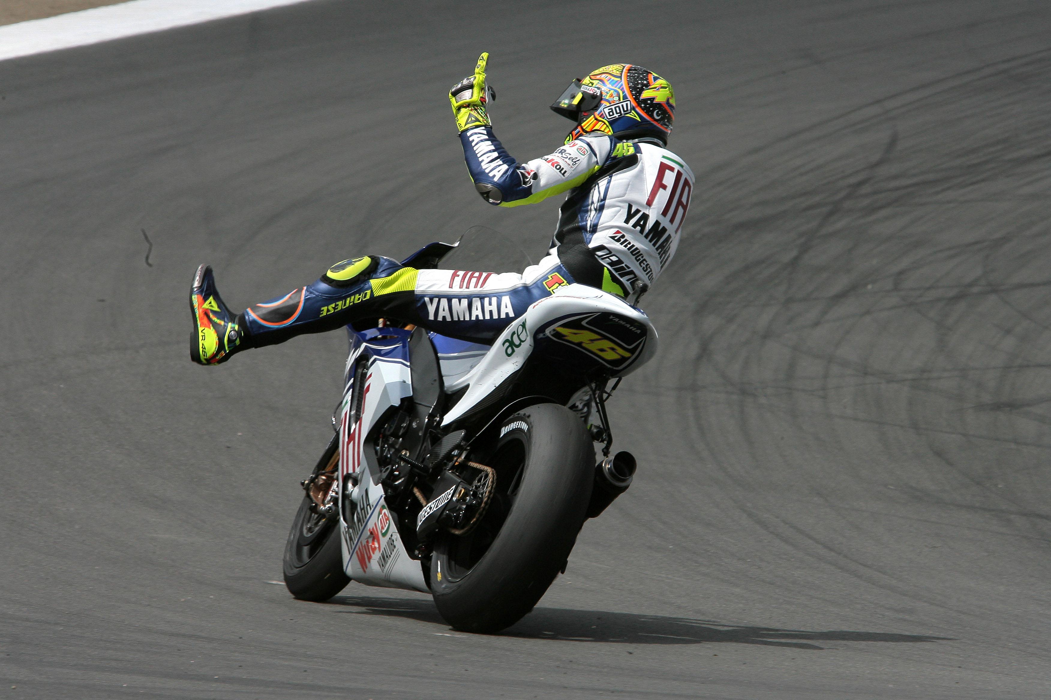 Valentino Rossi Yamaha wins Laguna Seca MotoGP 2008