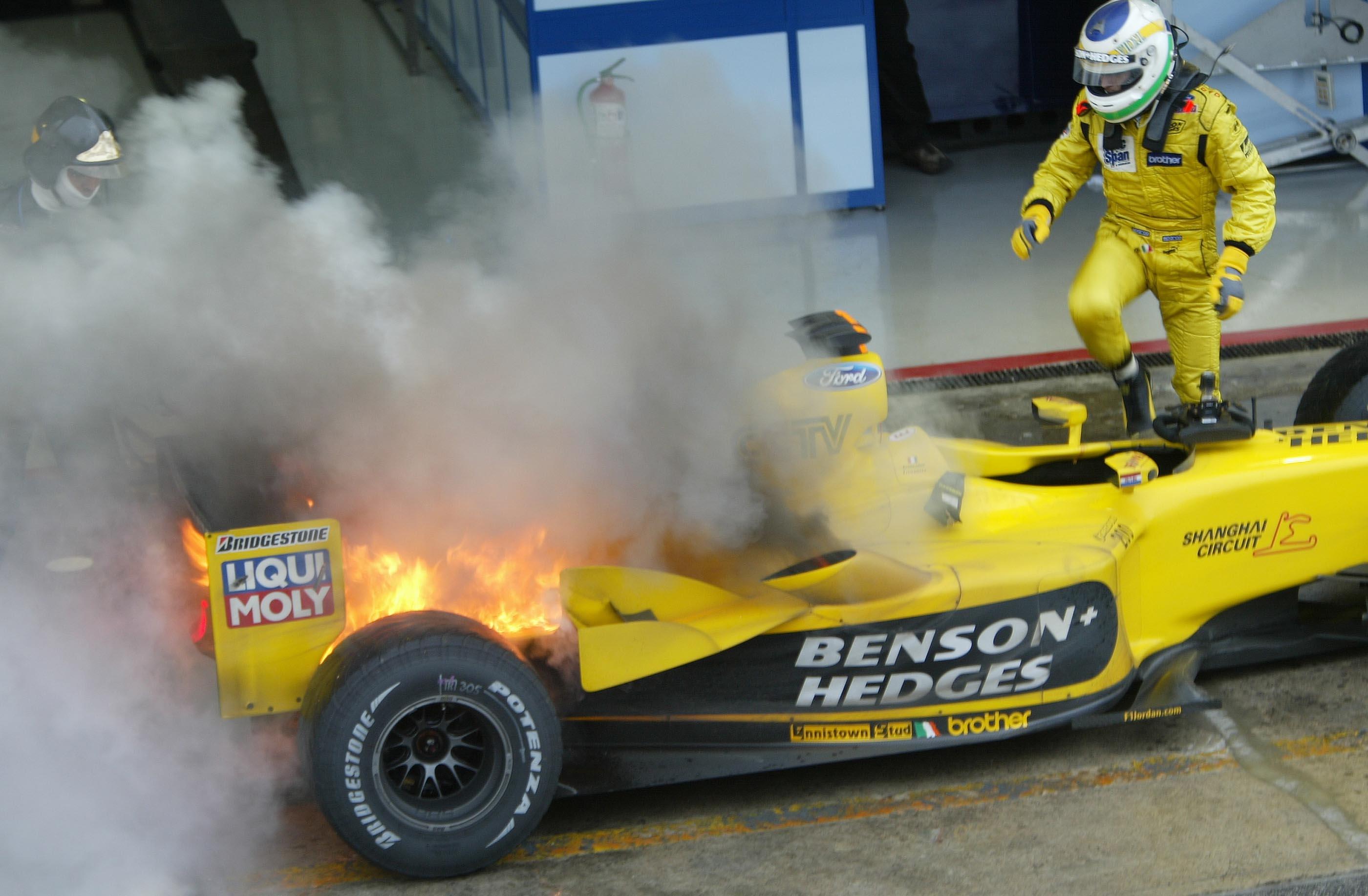 Sao Paolo, F1, So, Rennen, Gf, Feuer