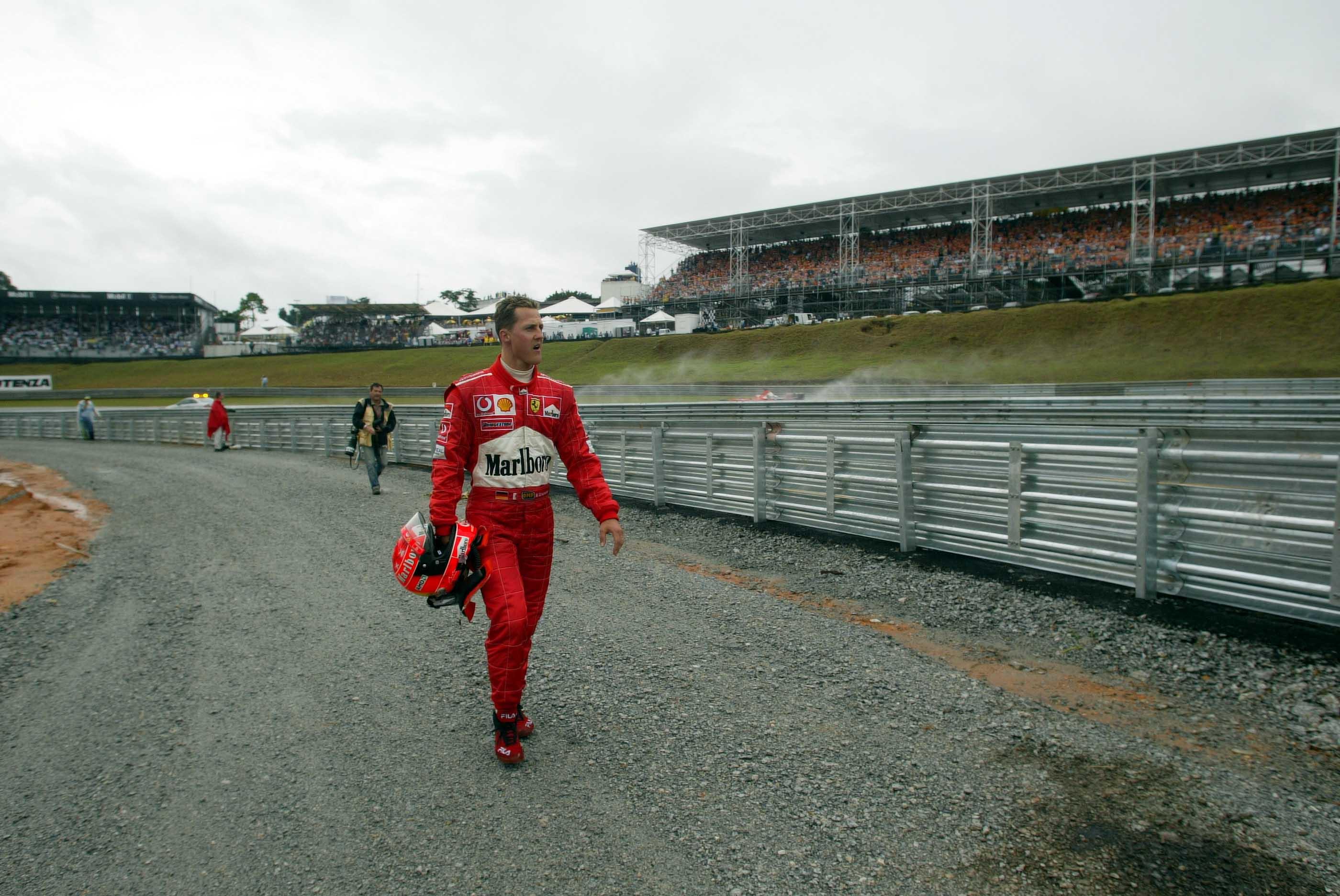 Sao Paolo, F1, So, Rennen, Michael Schumacher (d, Ferrari) Box