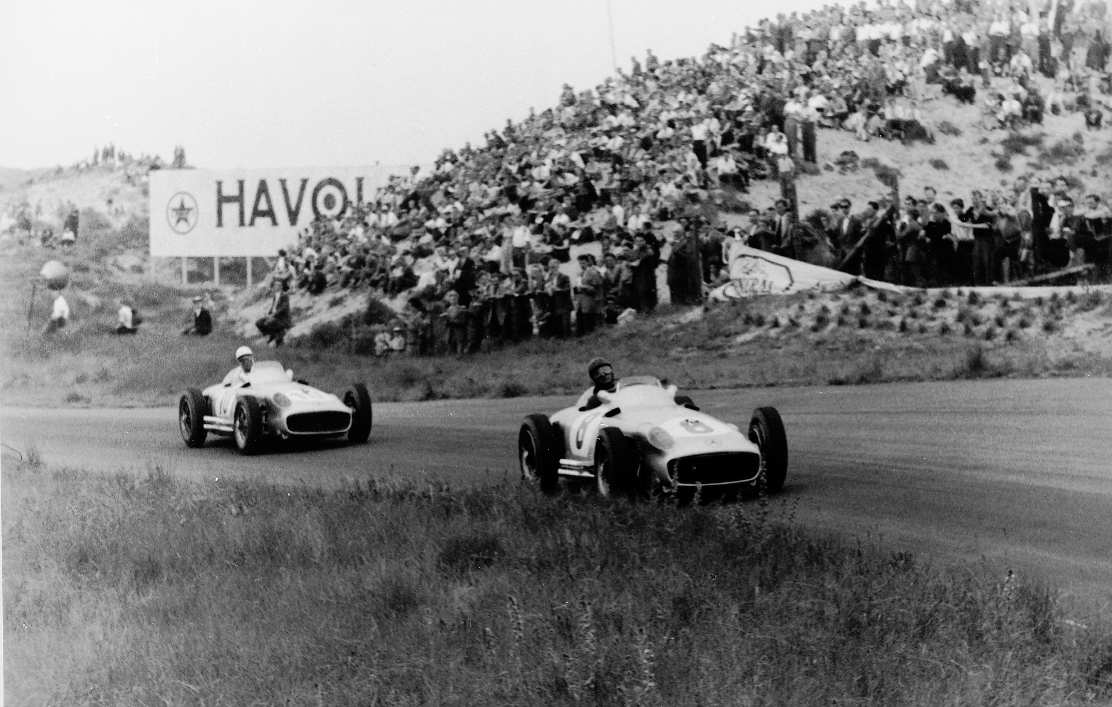 Dutch Grand Prix 1955 Juan Manuel Fangio Stirling Moss Mercedes