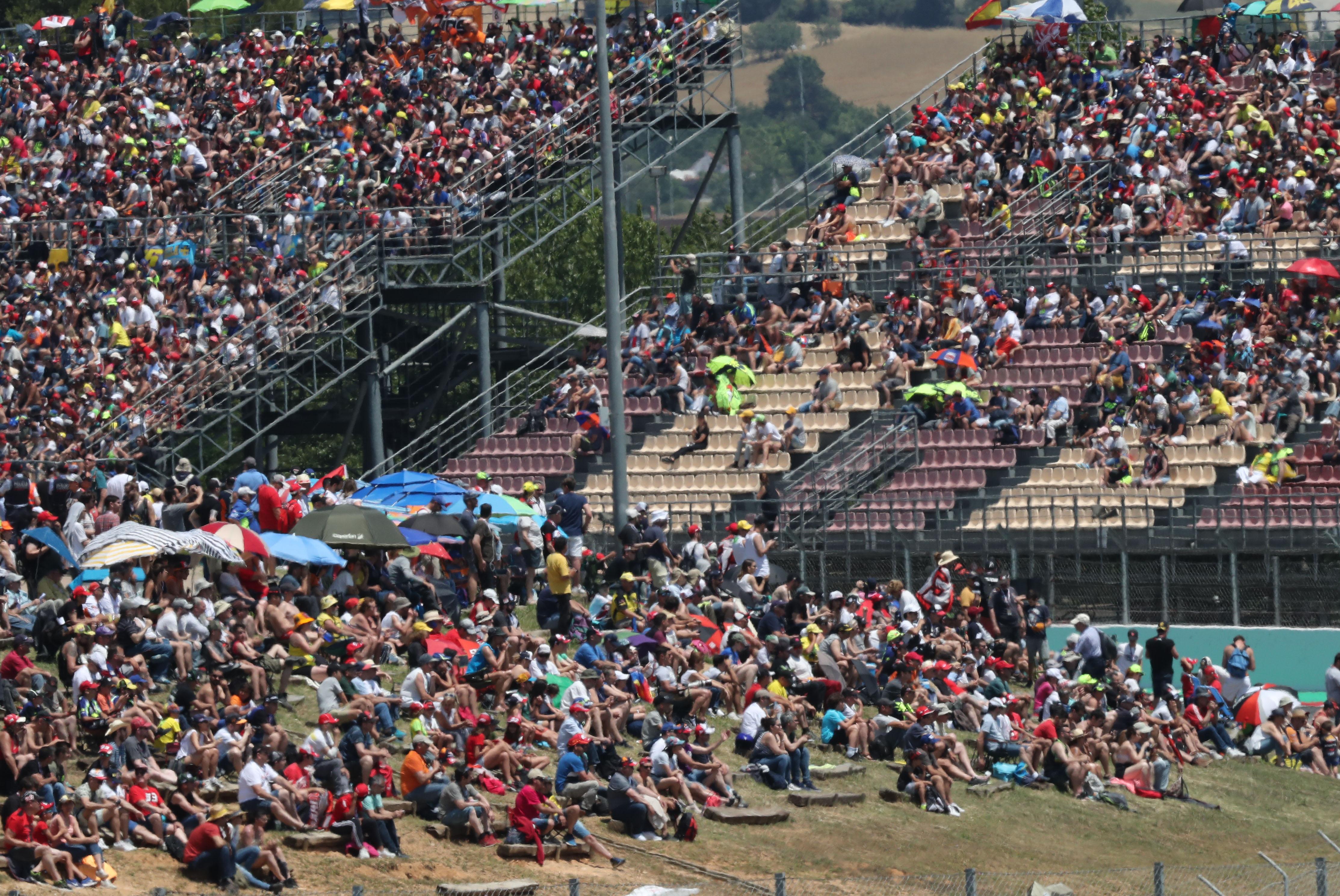 MotoGP Barcelona crowds 2019
