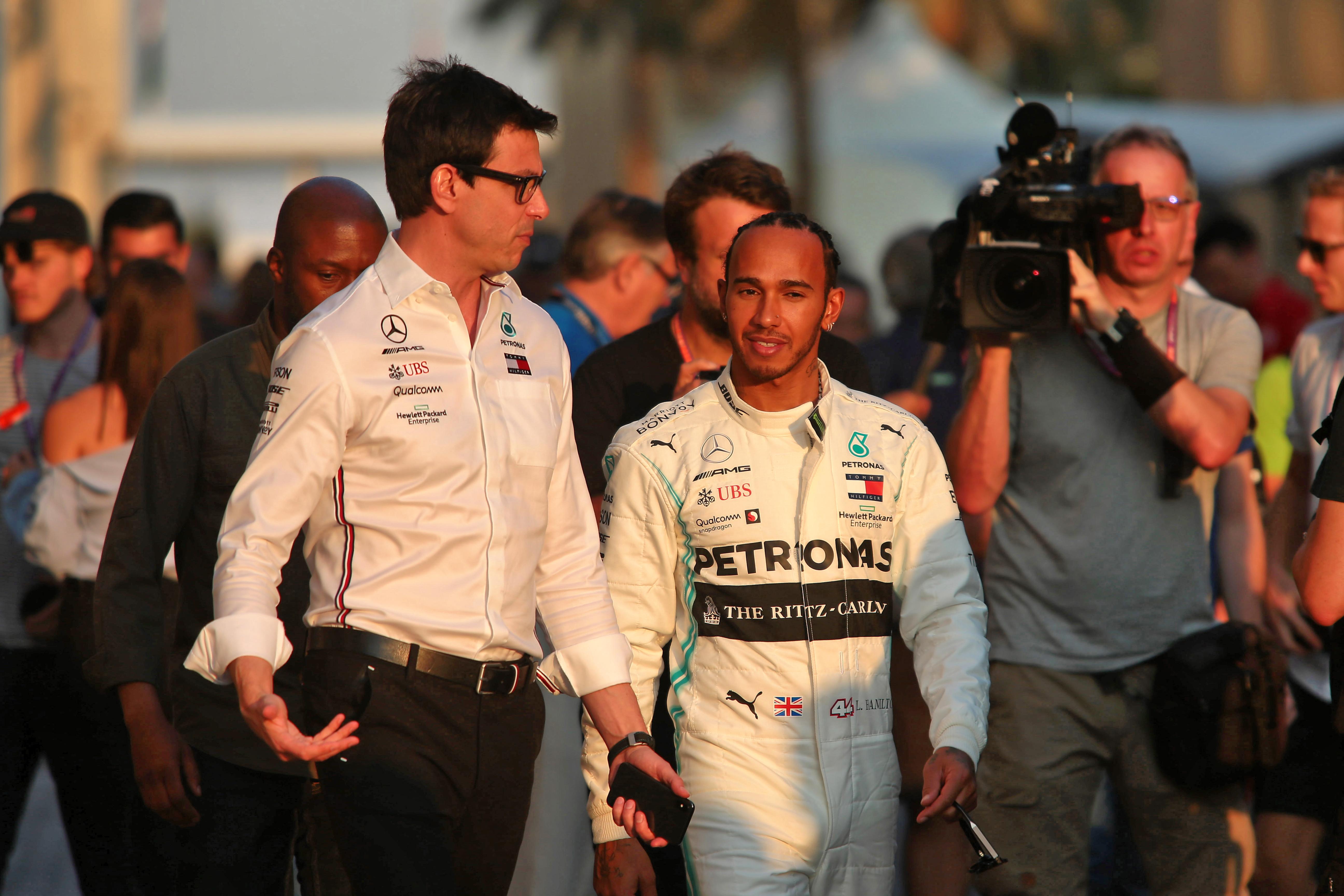 Toto Wolff Lewis Hamilton