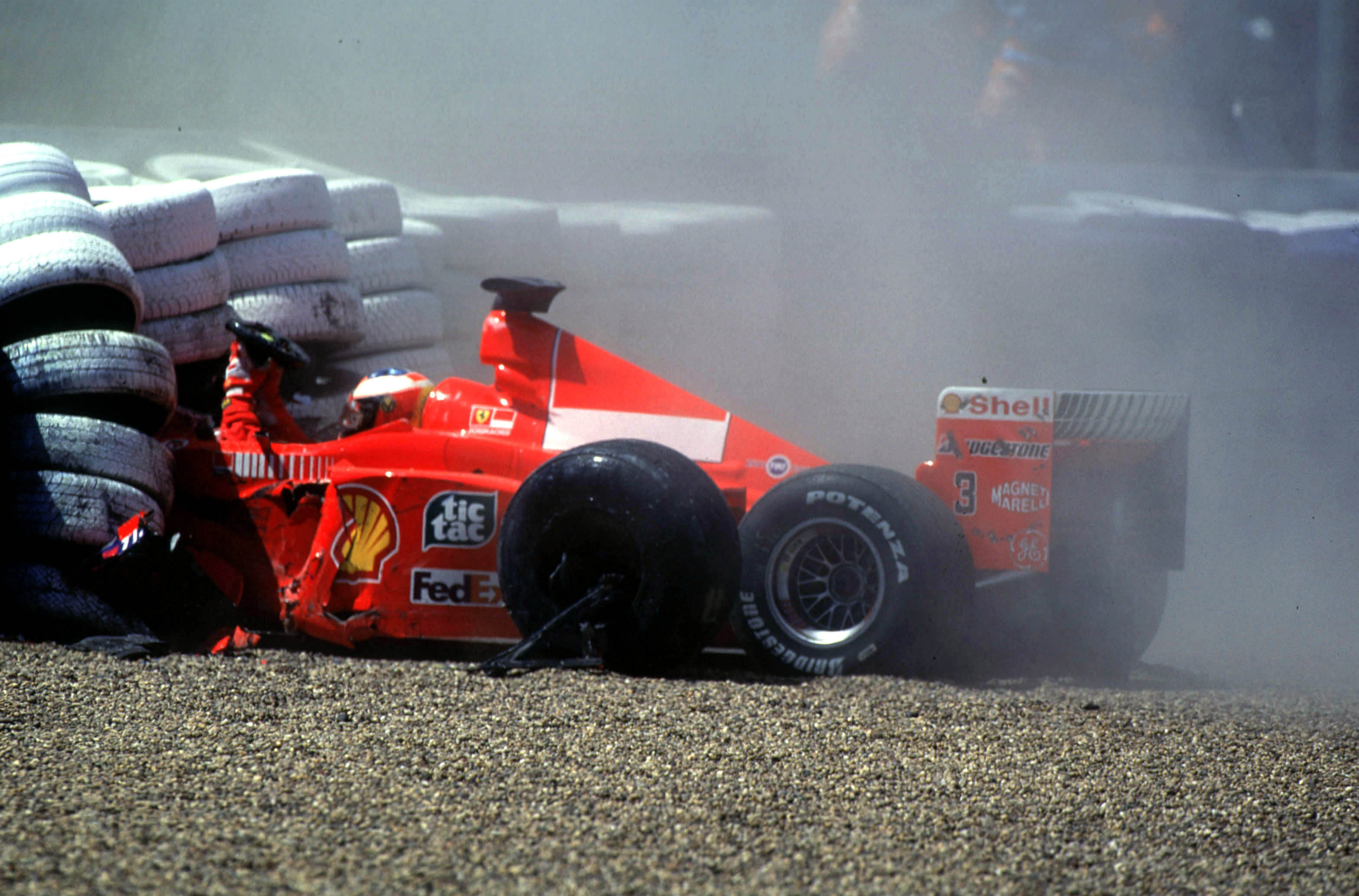 Michael Schumacher Ferrari crash British Grand Prix 1999 Silverstone