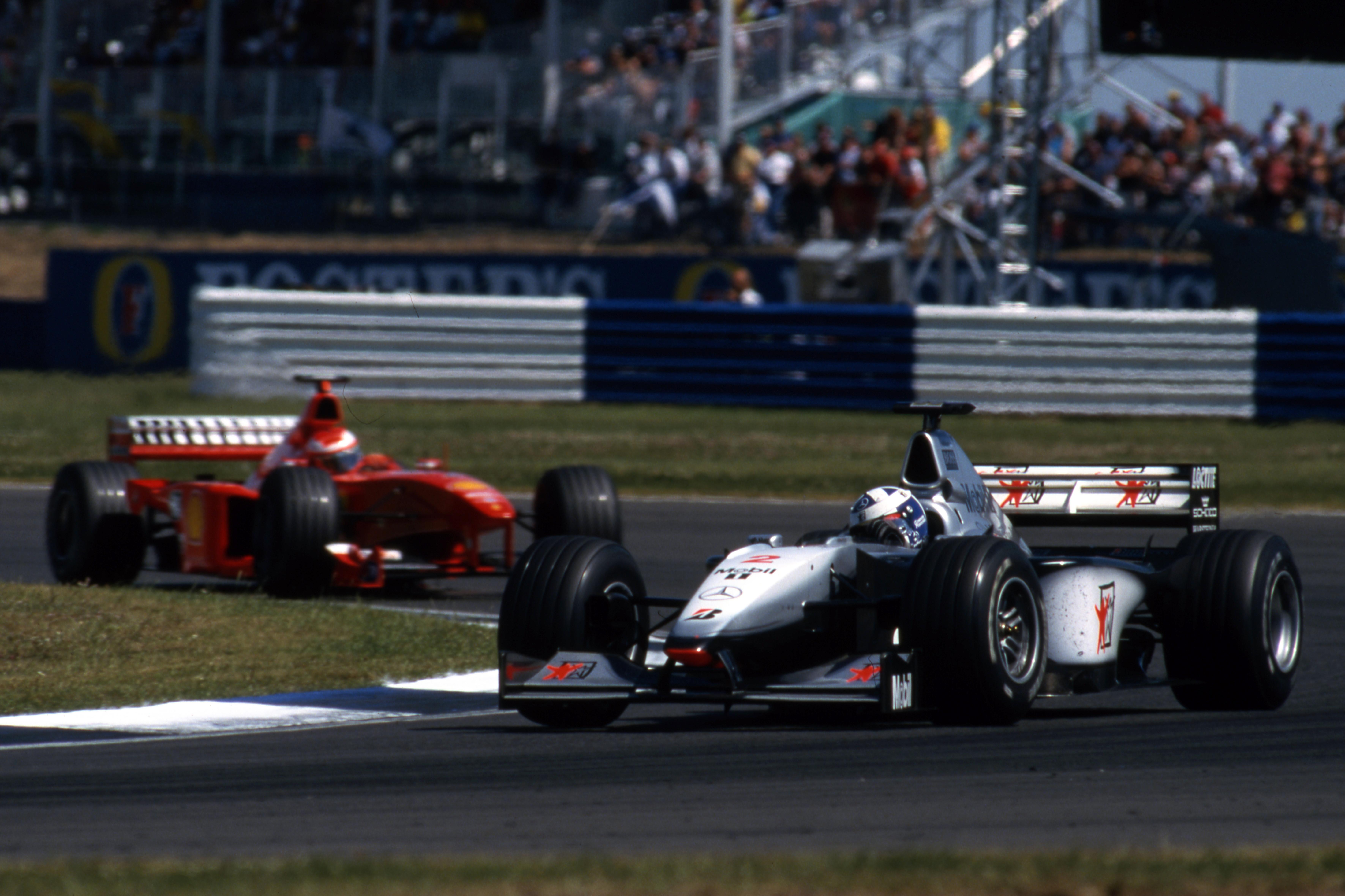 David Coulthard McLaren Eddie Irvine Ferrari British Grand Prix 1999 Silverstone