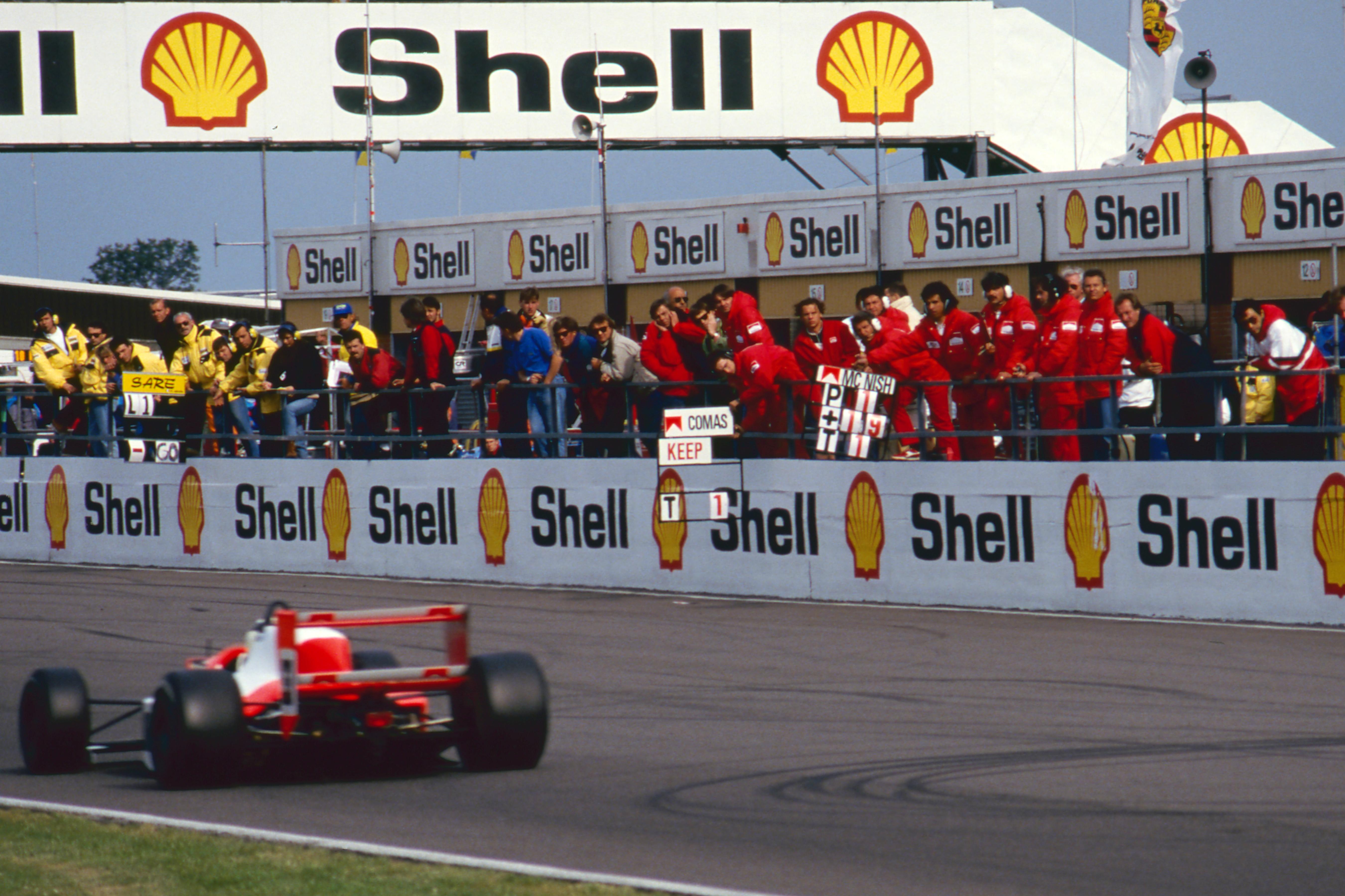 Allan McNish wins Silverstone Formula 3000 1990