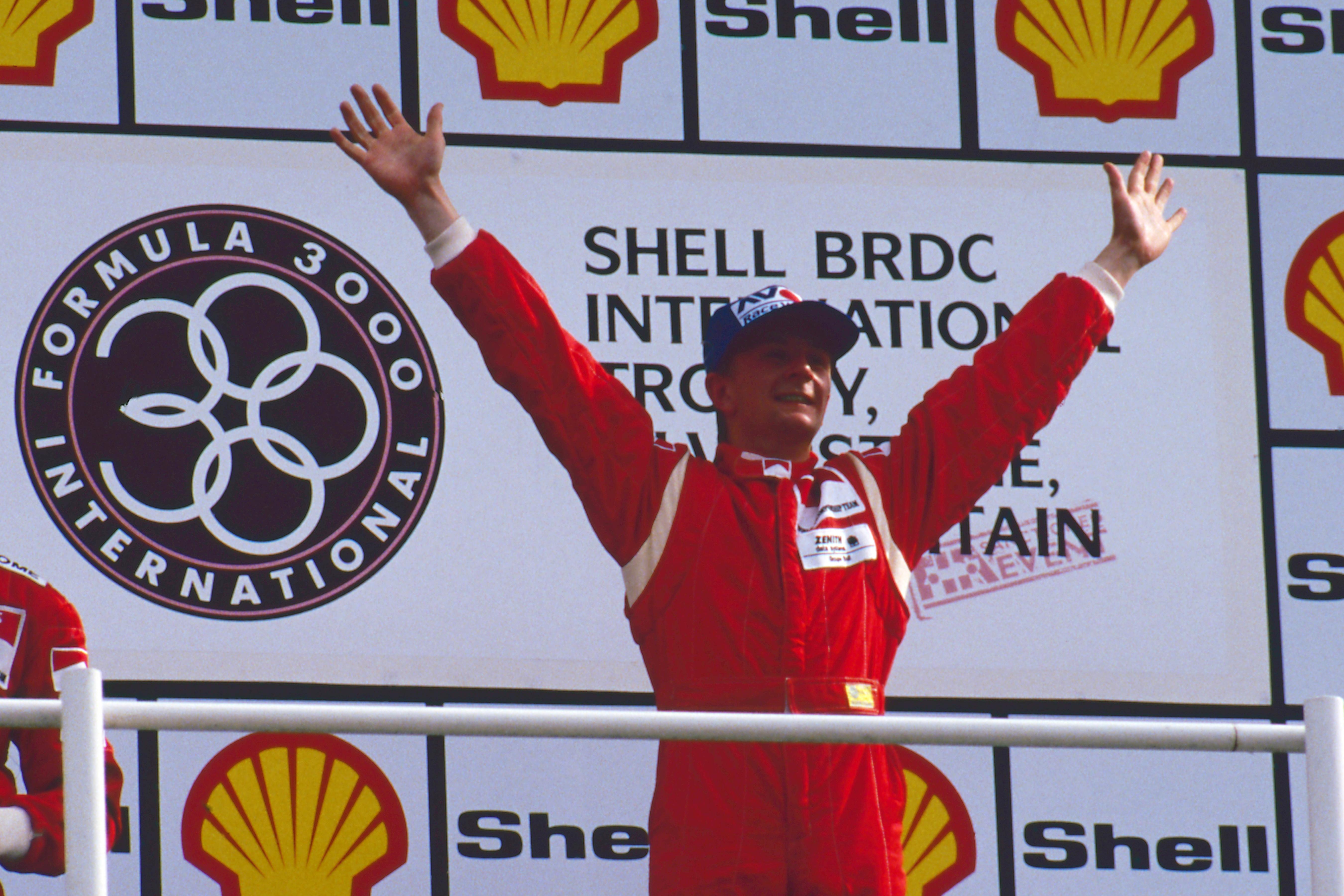 Allan McNish wins Silverstone F3000 1990