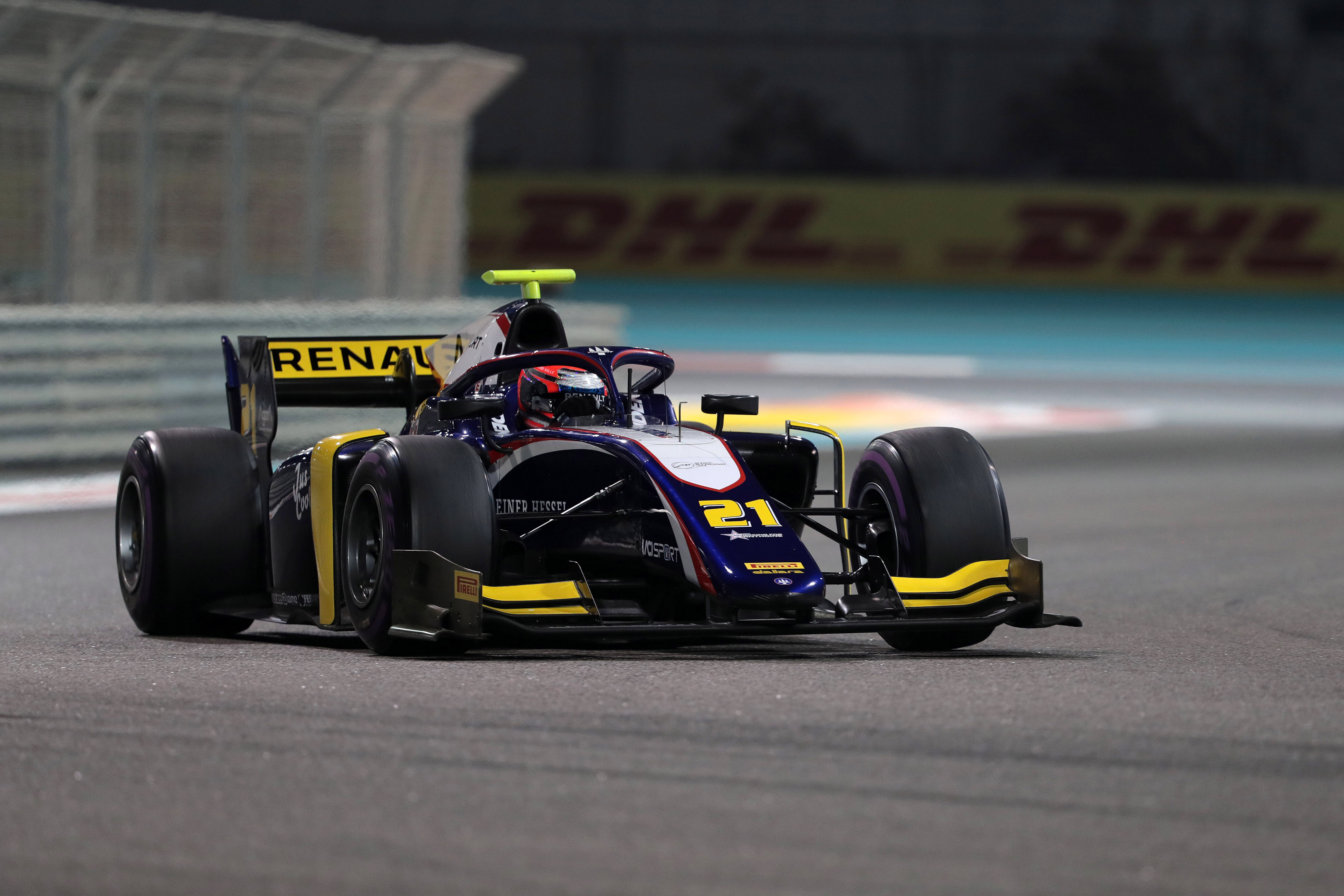 Motor Racing Fia Formula 2 Championship Friday Yas Marina Circuit, Abu Dhabi