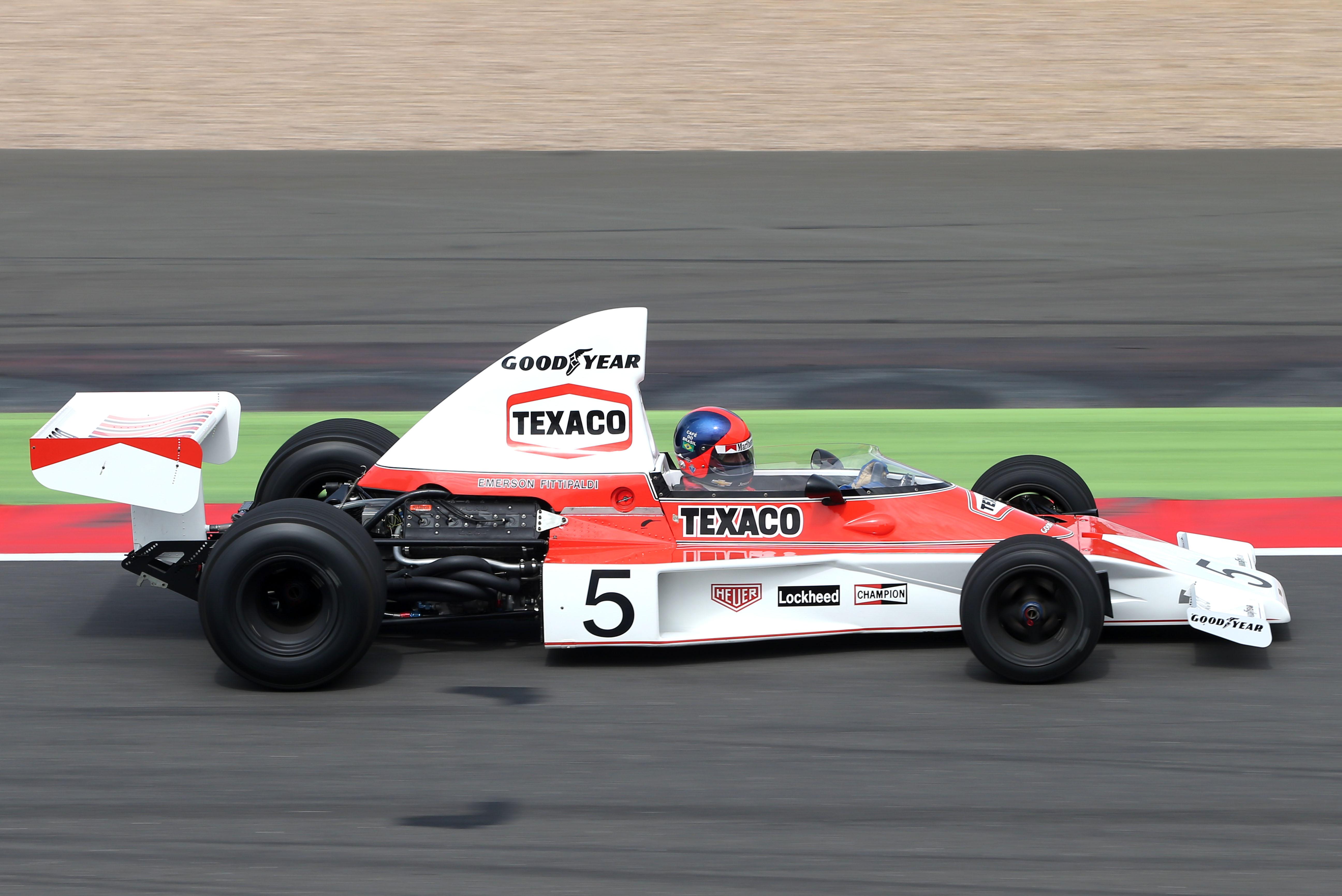 Emerson Fittipaldi The Race Legends Trophy McLaren Silverstone 2014