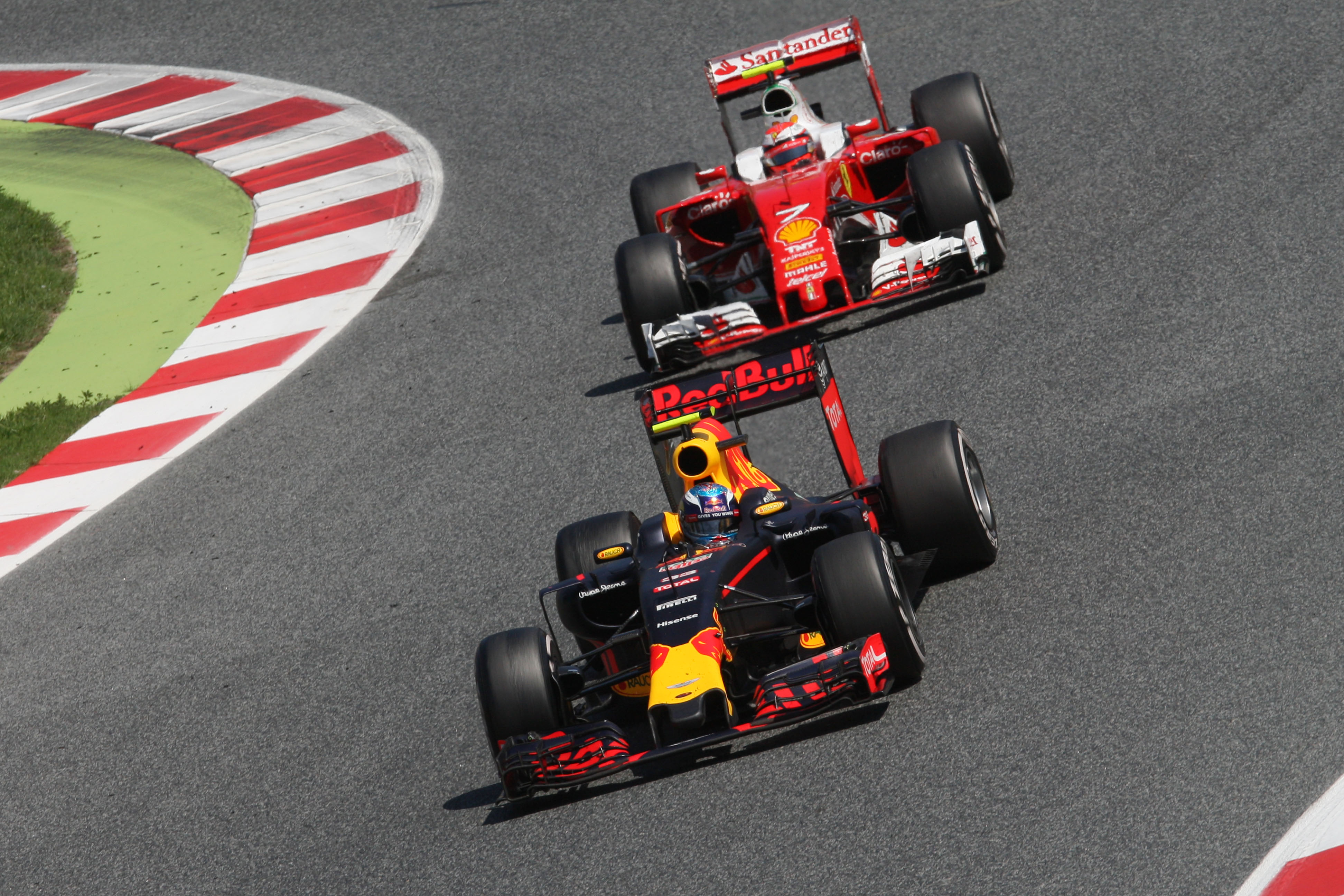 Max Verstappen Red Bull Kimi Raikkonen Ferrari Spanish Grand Prix 2016 Barcelona