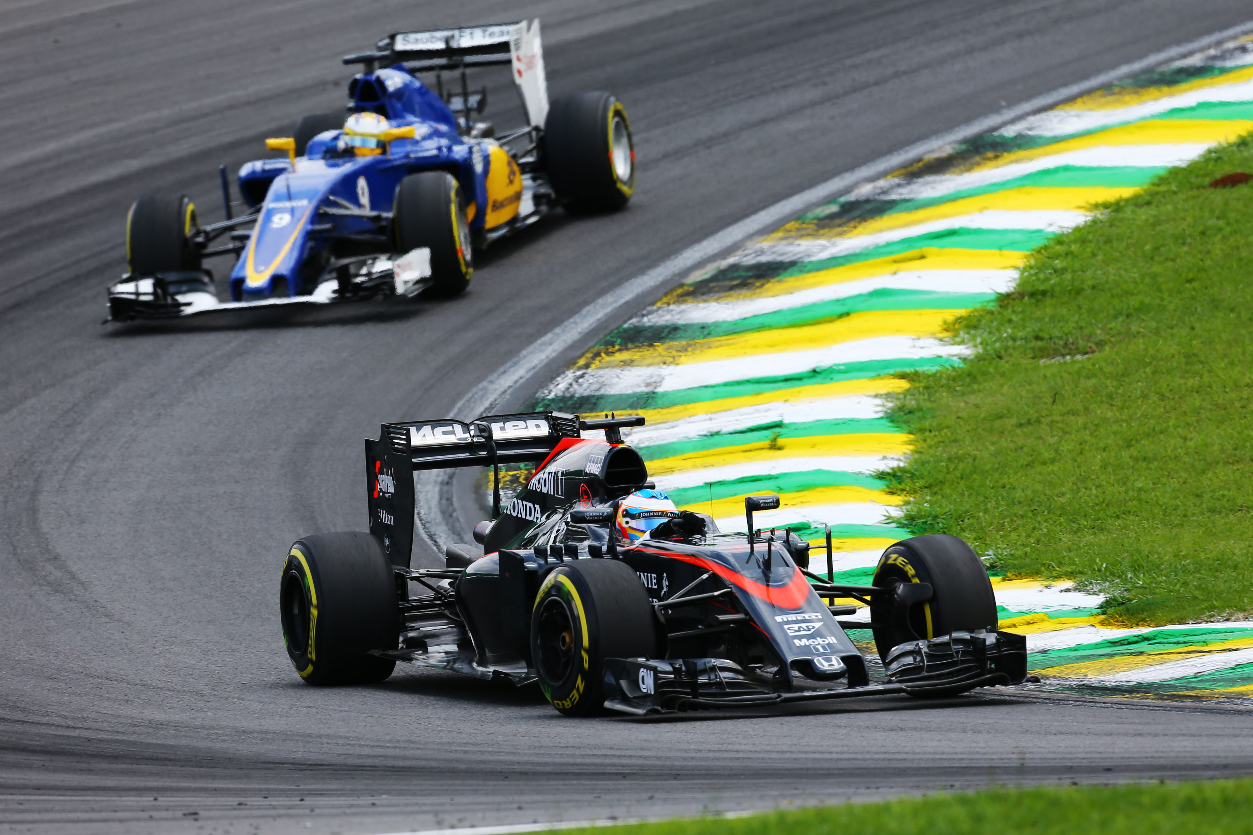 Fernando Alonso McLaren Brazilian Grand Prix 2015 Interlagos