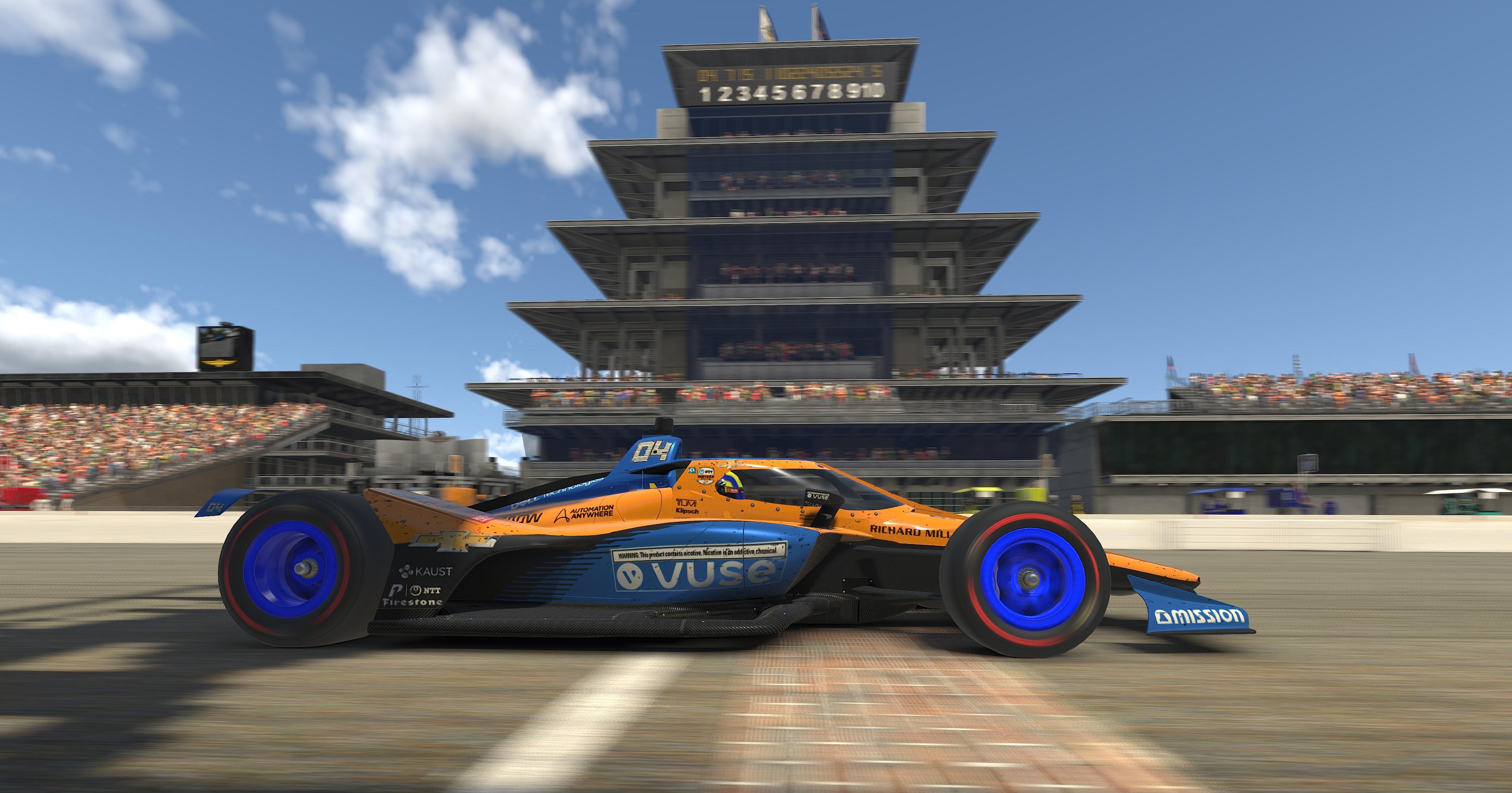Lando Norris IndyCar iRacing Challenge