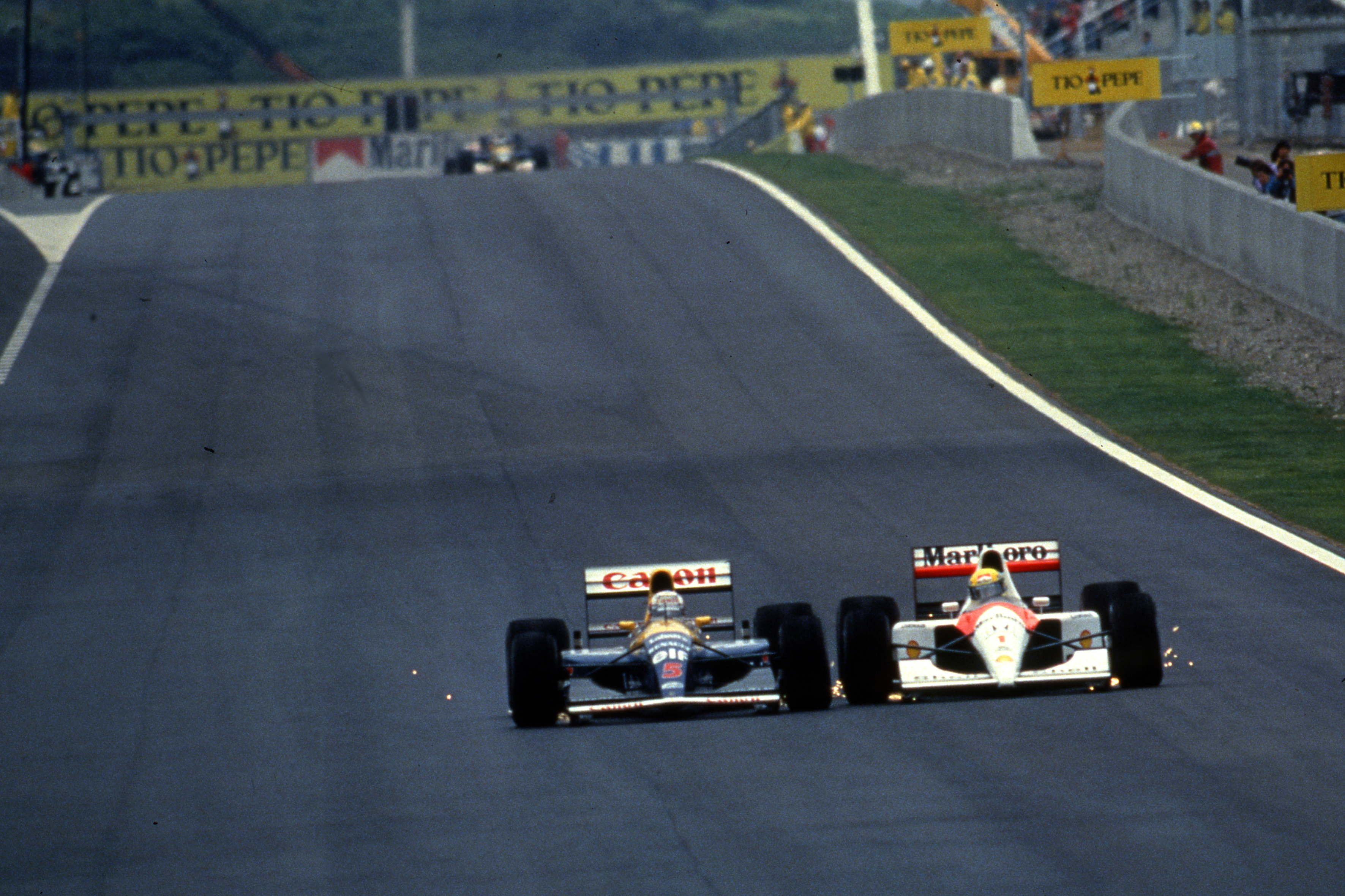 Nigel Mansell Williams Ayrton Senna McLaren Spanish Grand Prix 1991 Barcelona