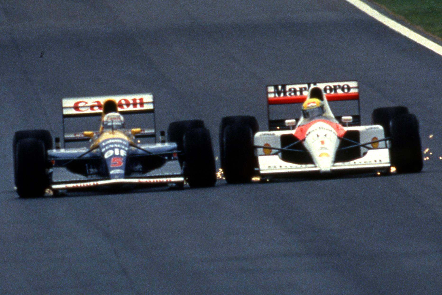 Nigel Mansell Williams Ayrton Senna McLaren Spanish Grand Prix Barcelona 1991
