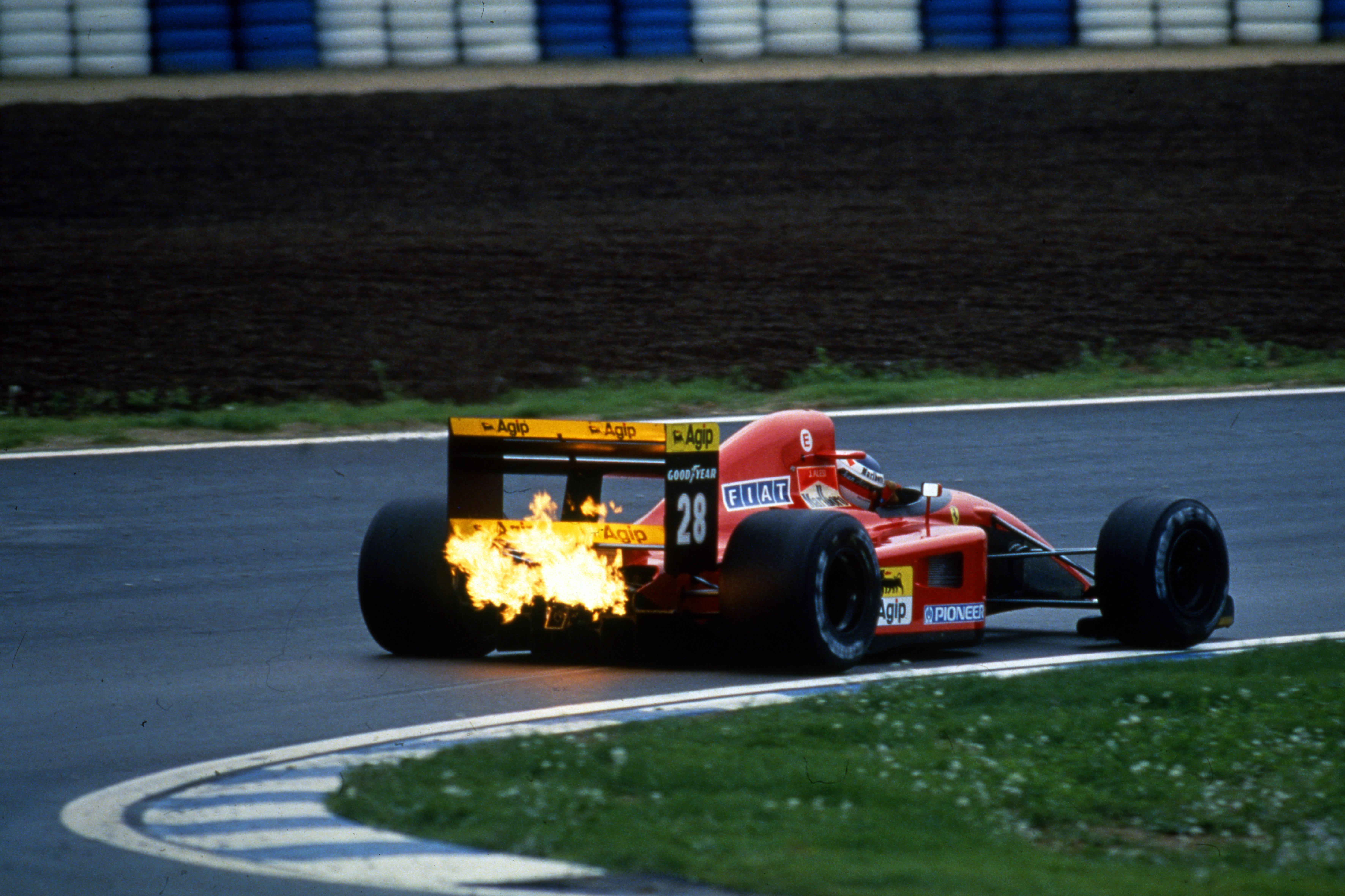 Jean Alesi Ferrari Spanish Grand Prix 1991 Barcelona
