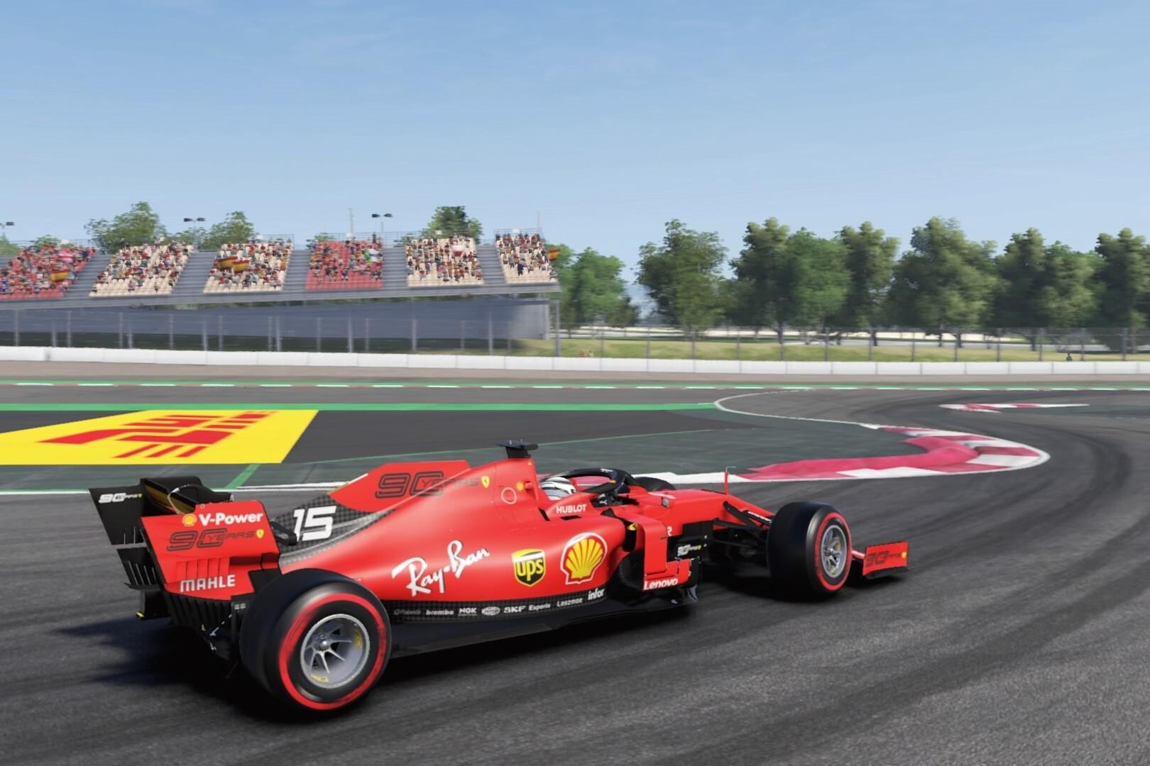 Charles Leclerc Ferrari Virtual Spanish Grand Prix