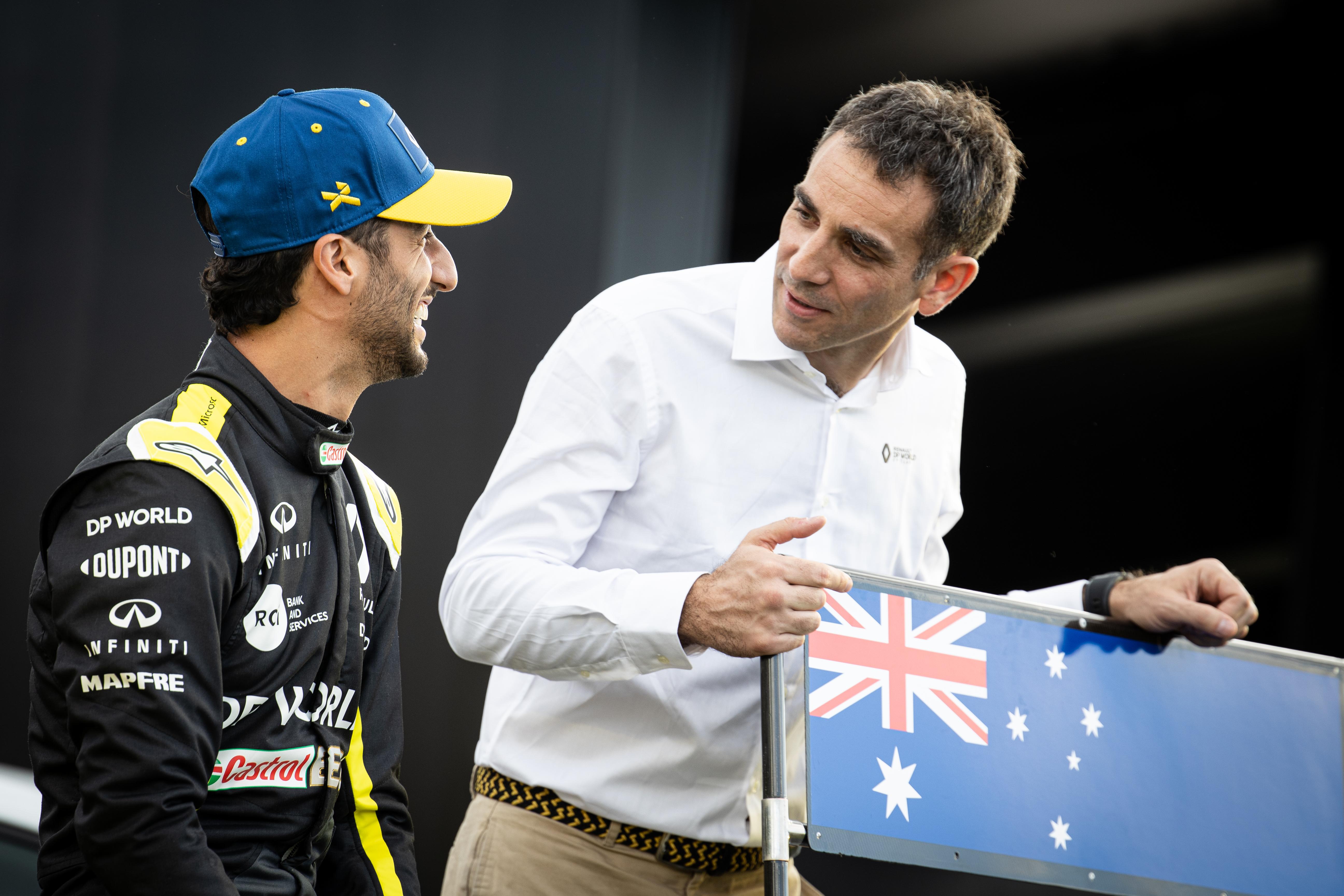 Daniel Ricciardo Cyril Abiteboul