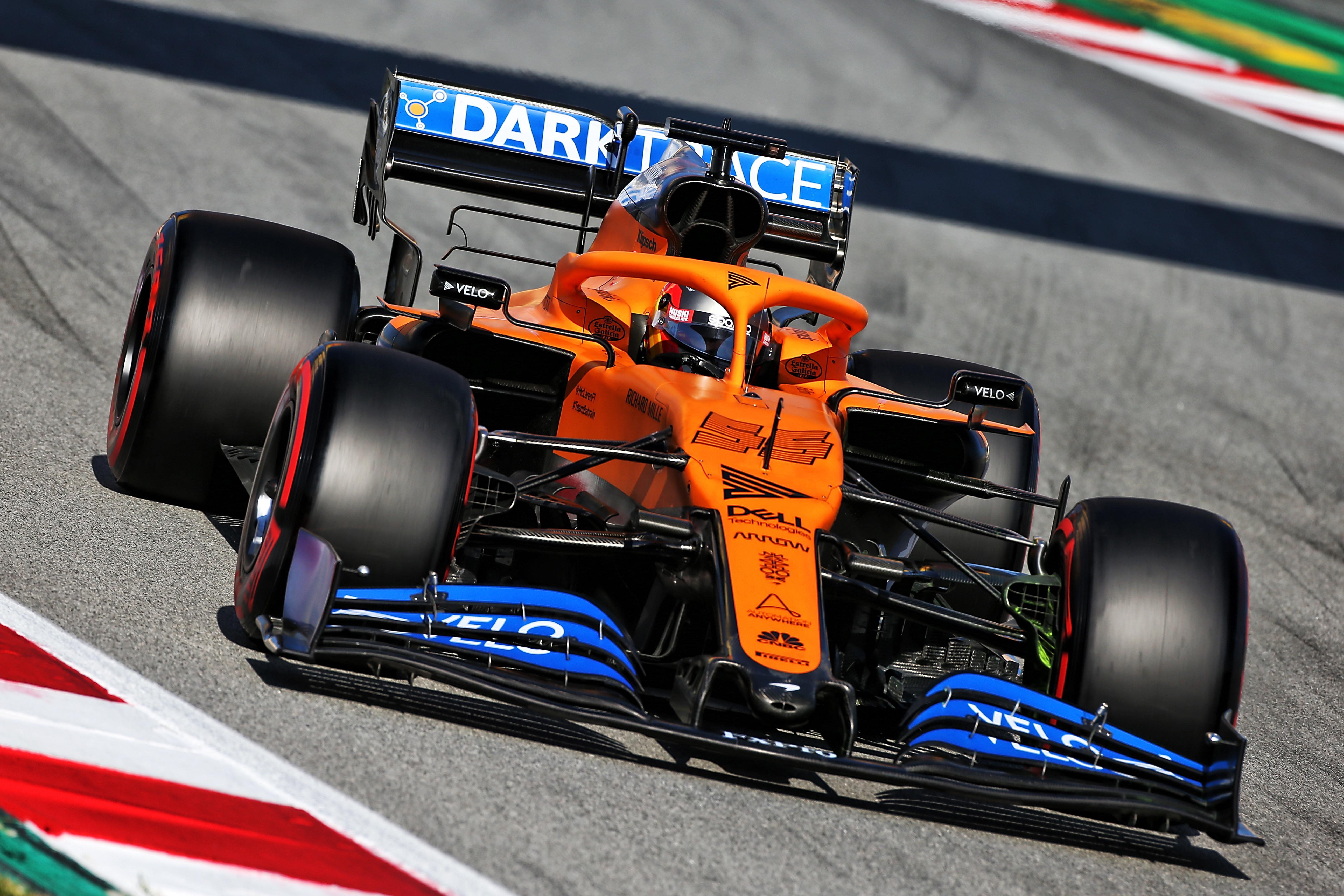 Carlos Sainz Jr McLaren Barcelona F1 testing 2020